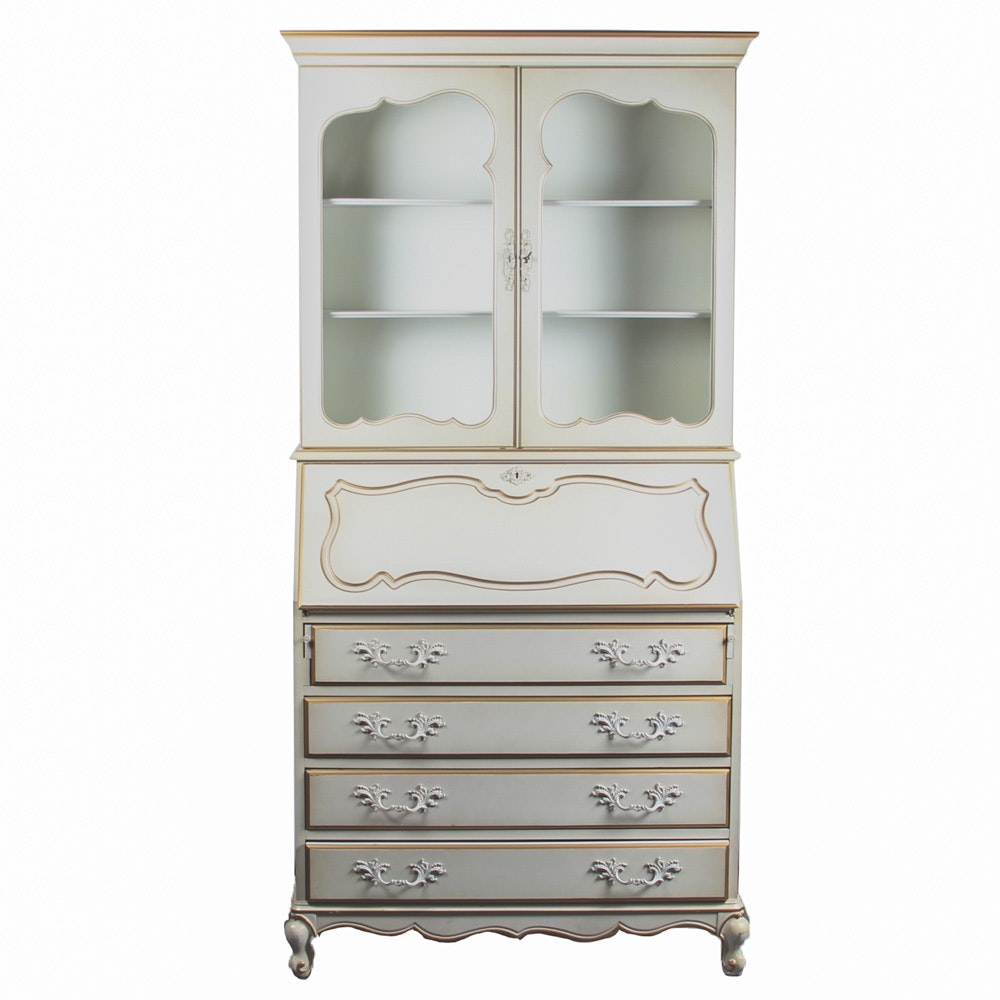 French Provincial Style Secretary Cabinet