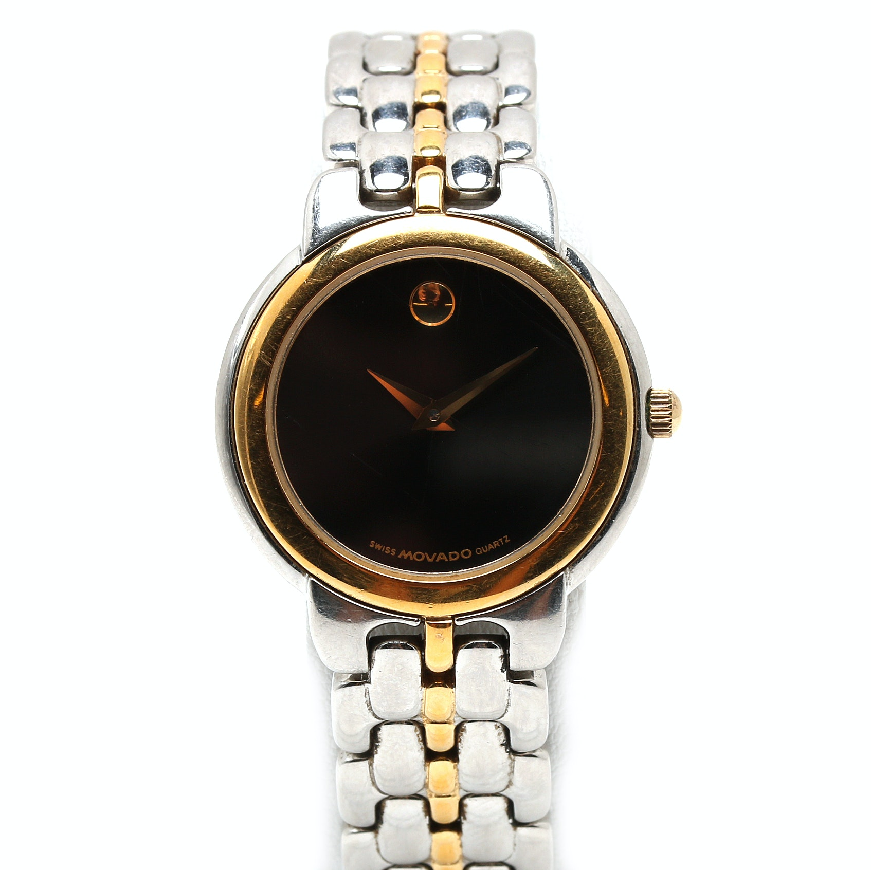 Movado Two Tone Museum Wristwatch