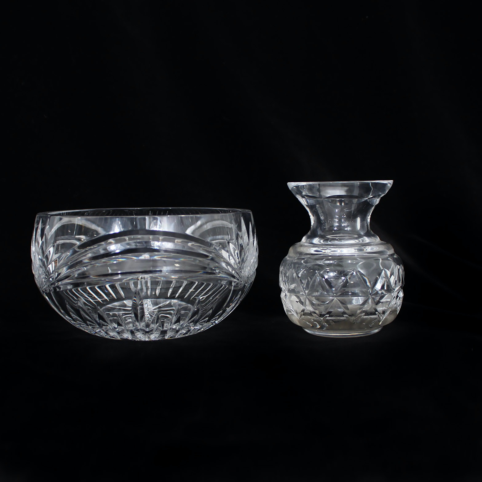 "Marquis by Waterford ""Calais"" Crystal Bowl with Waterford Crystal Bud vase"