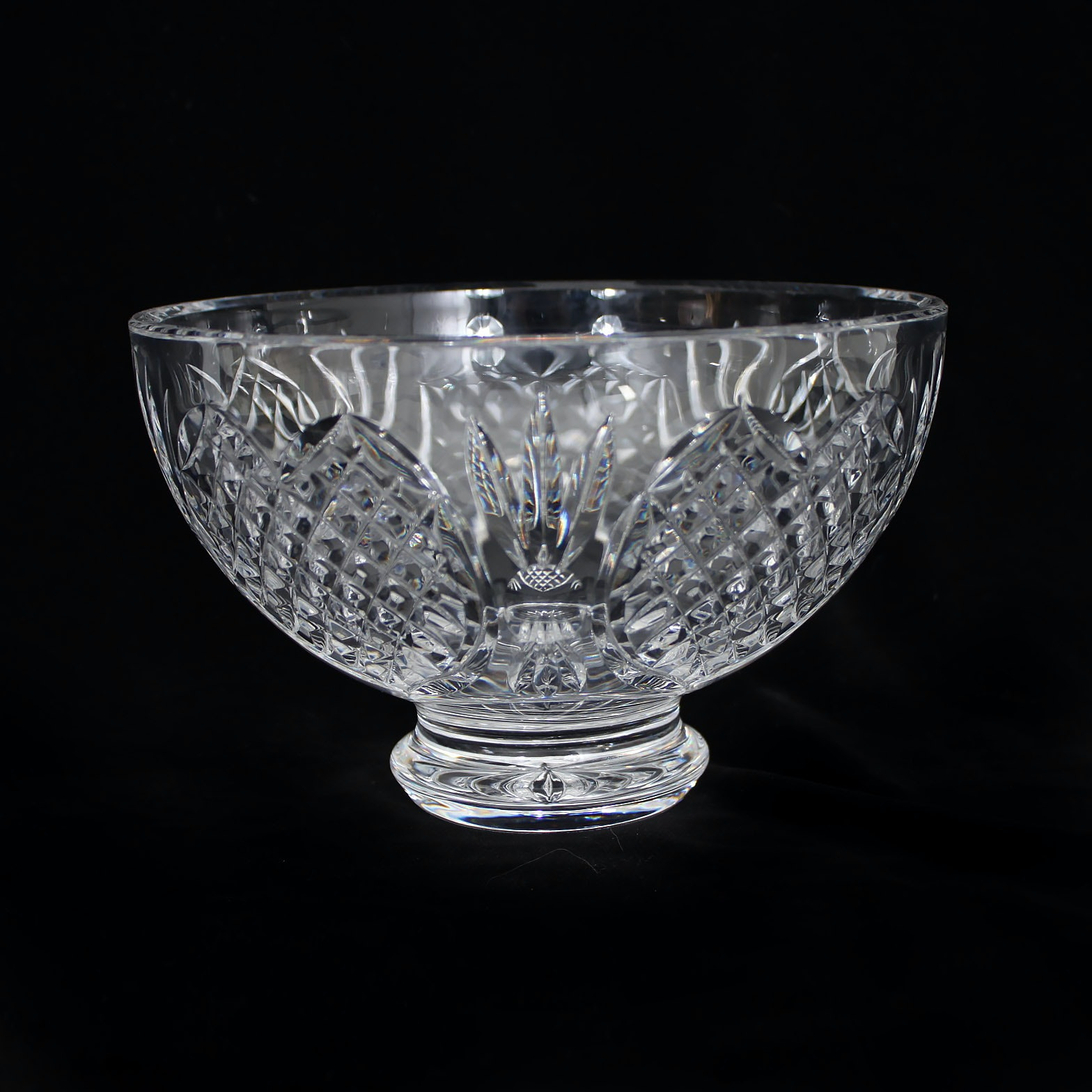 "Waterford Crystal ""Wedding Heirloom Collection"" Footed Bowl"