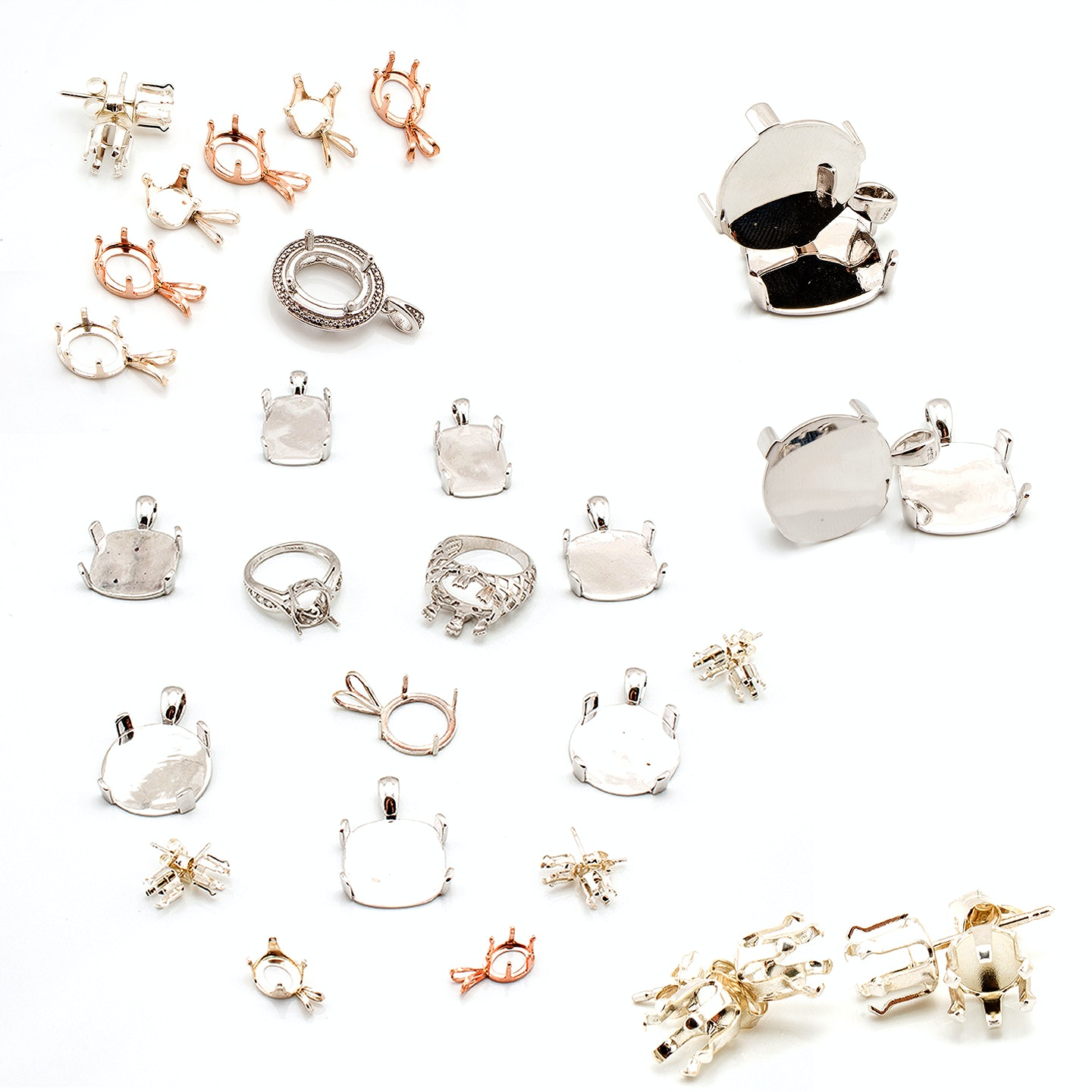 Sterling Silver Jewelry Stone Mountings
