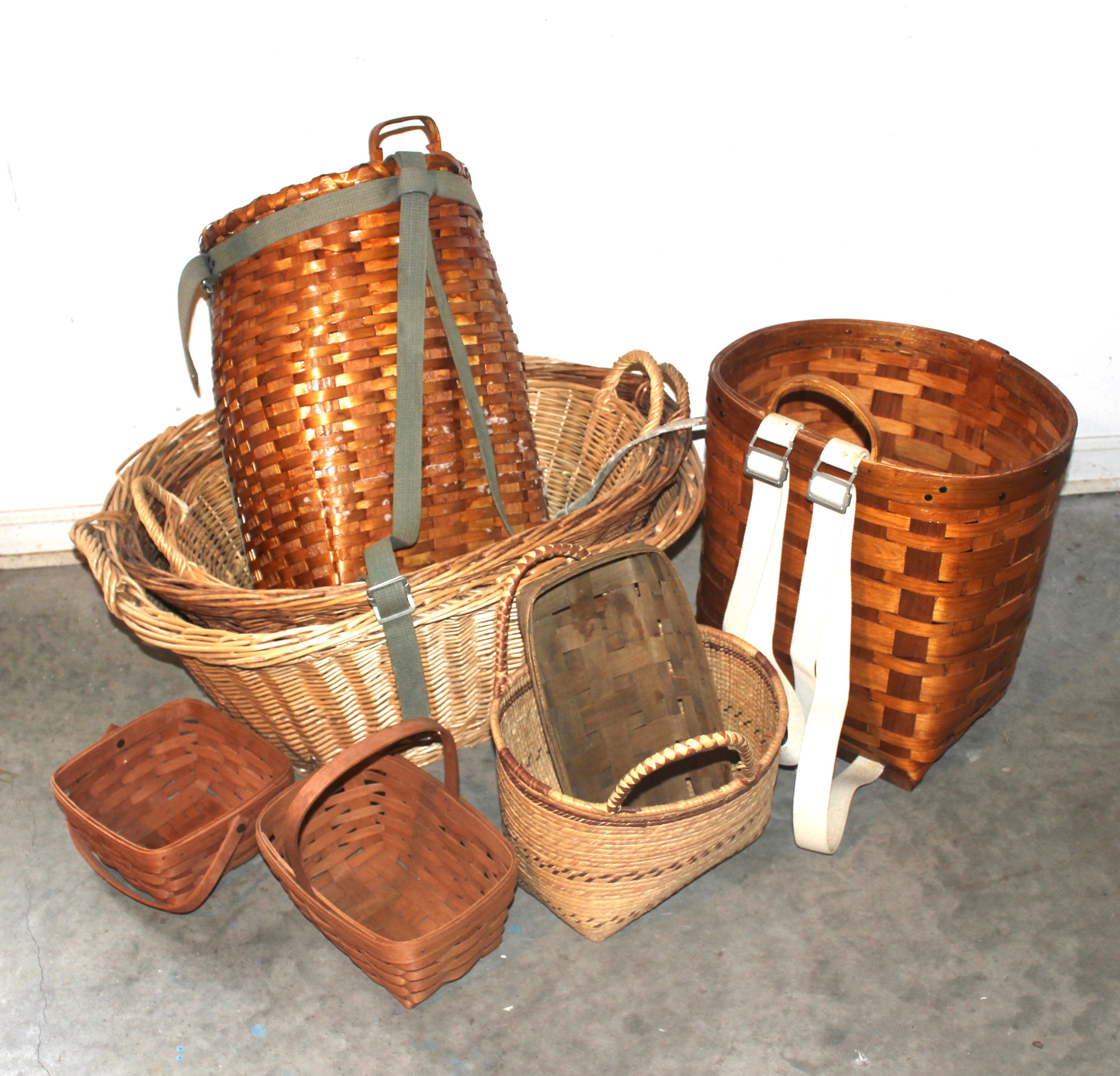 Handled Baskets and Pack Baskets Including Longaberger