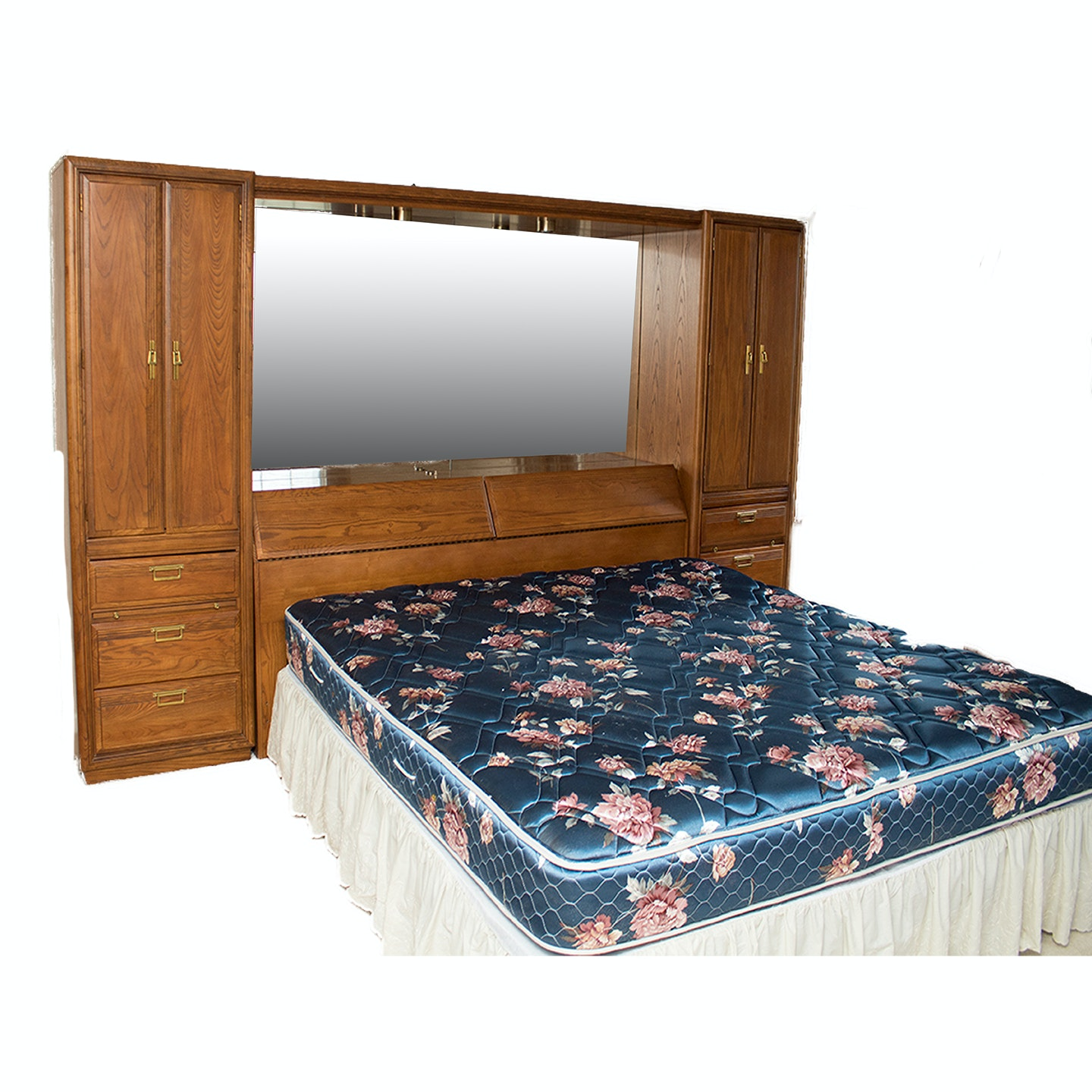 American Drew King Size Modular Cabinet Bed Frame