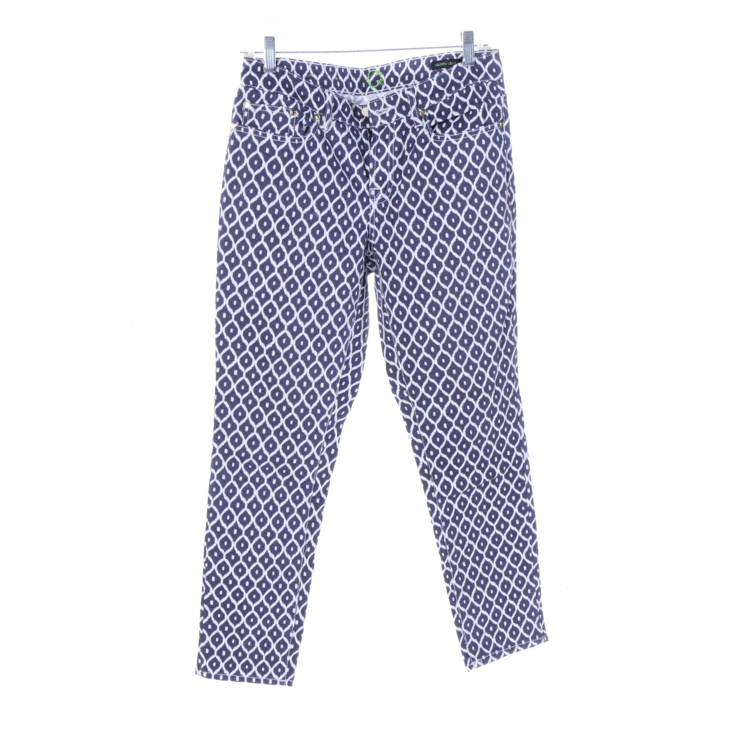Women's Charming Charlie Diamond Printed Skinny Jeans