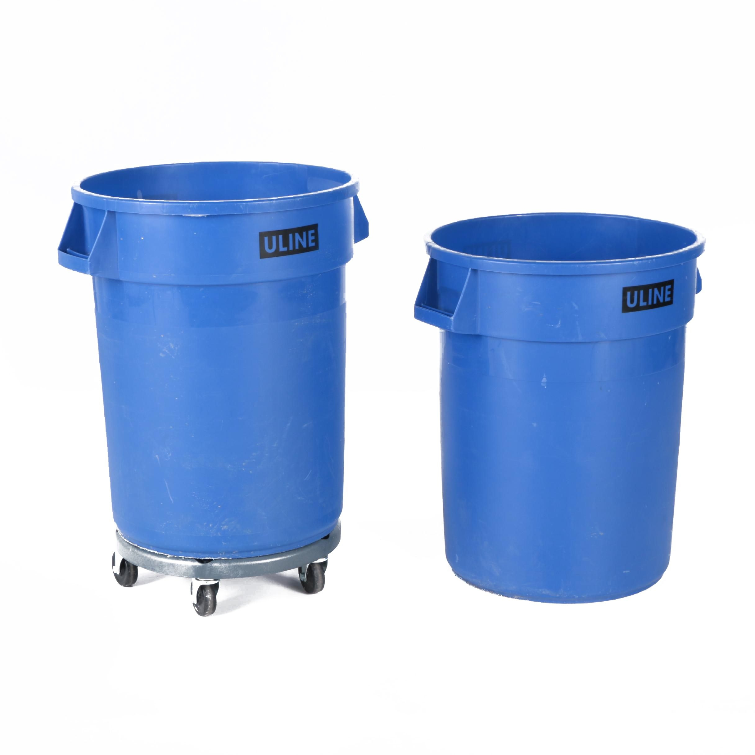 ULINE Waste Containers with Lavex Dolly