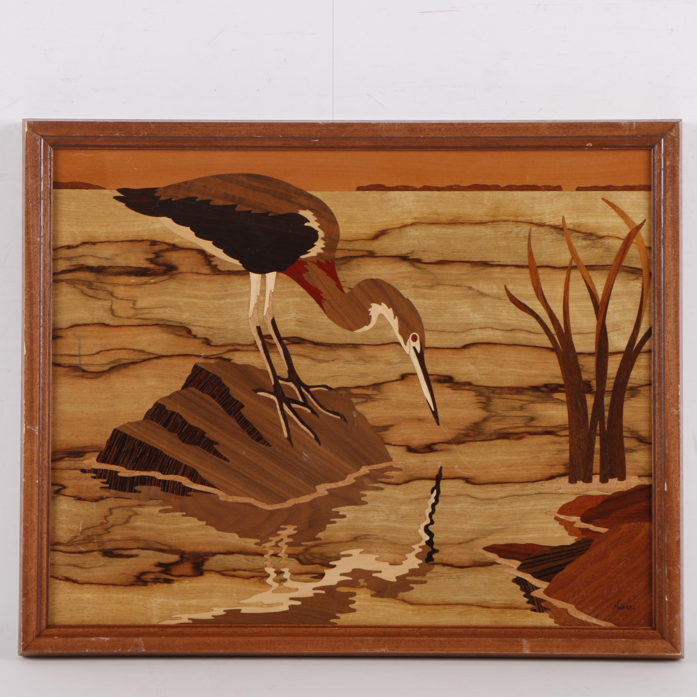Jeff Nelson Hudson River Inlay Marquetry Art