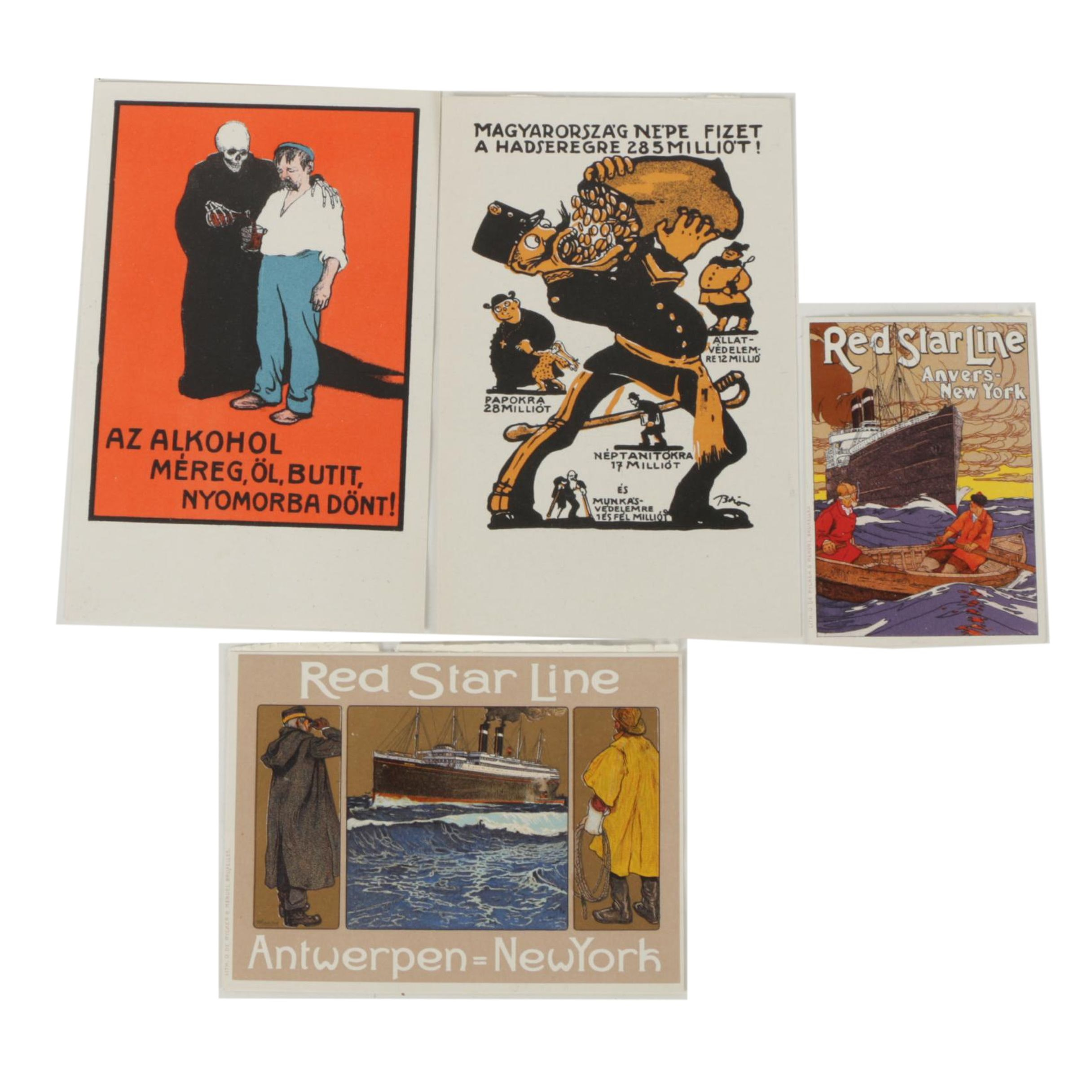 Vintage Chromolithograph and Color Lithograph Postcards