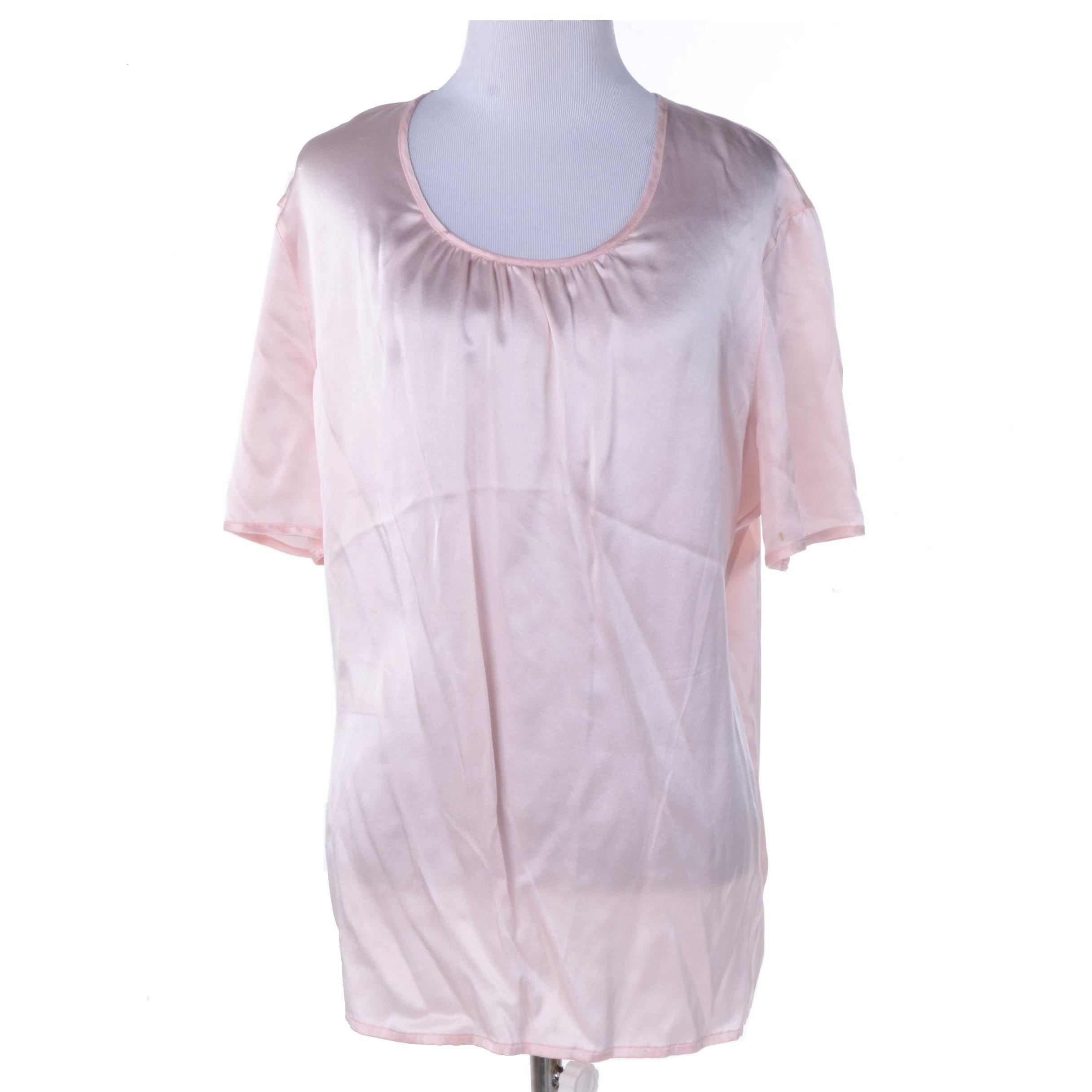 Escada Pink Silk Satin Blouse