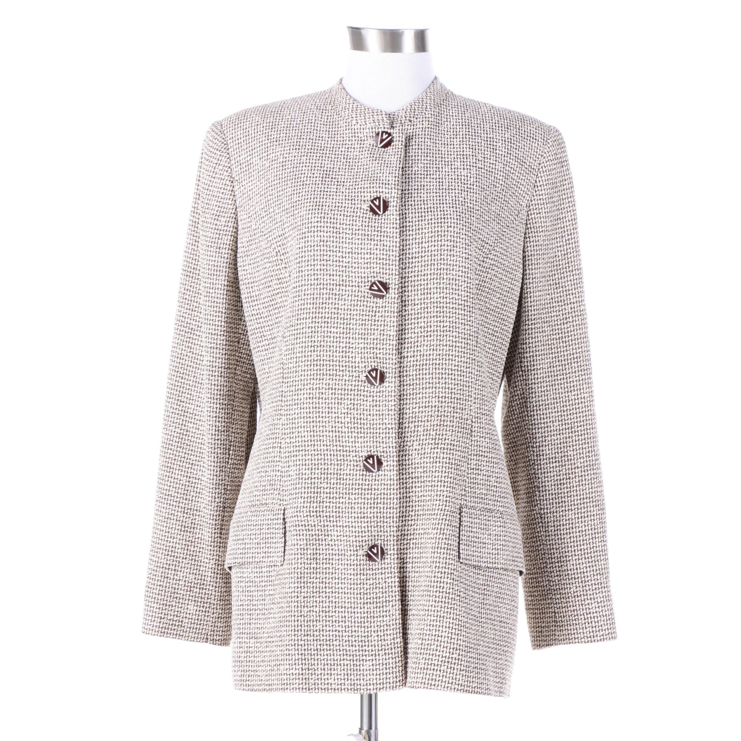 Women's Valentino Miss V Silk Suit Jacket
