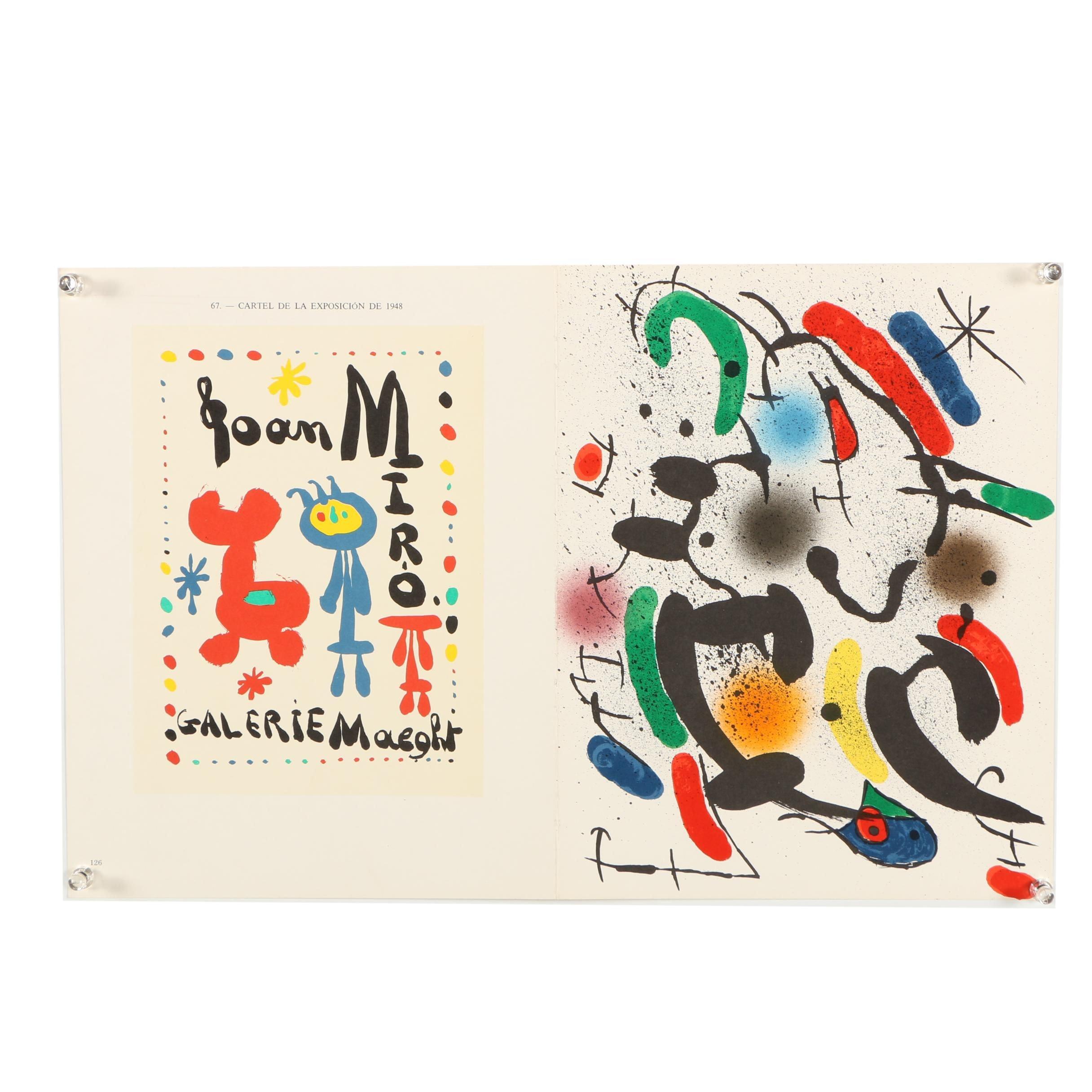 "Lithographs ""Cartel De La Exposicion..."" and ""Plate VI"" Designed by Joan Miro"