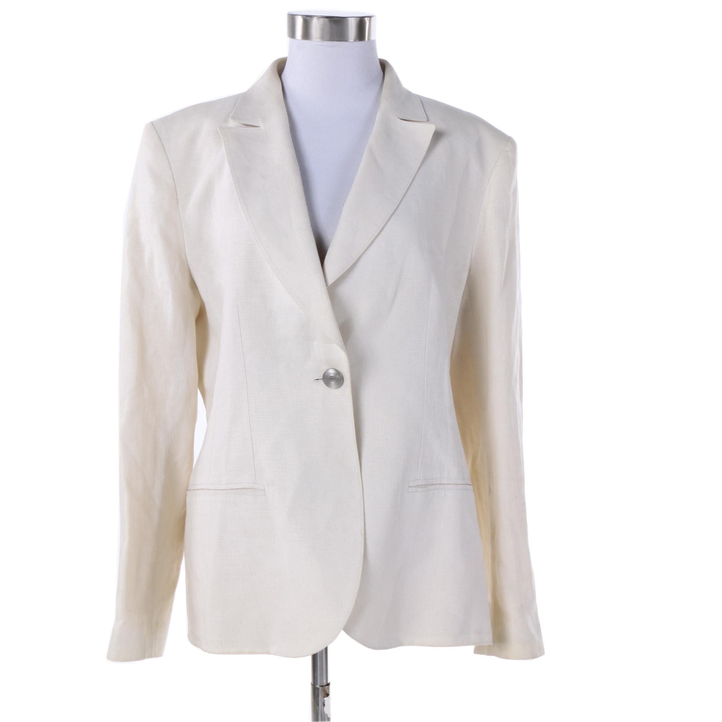 Women's Chanel Boutique Linen Blazer