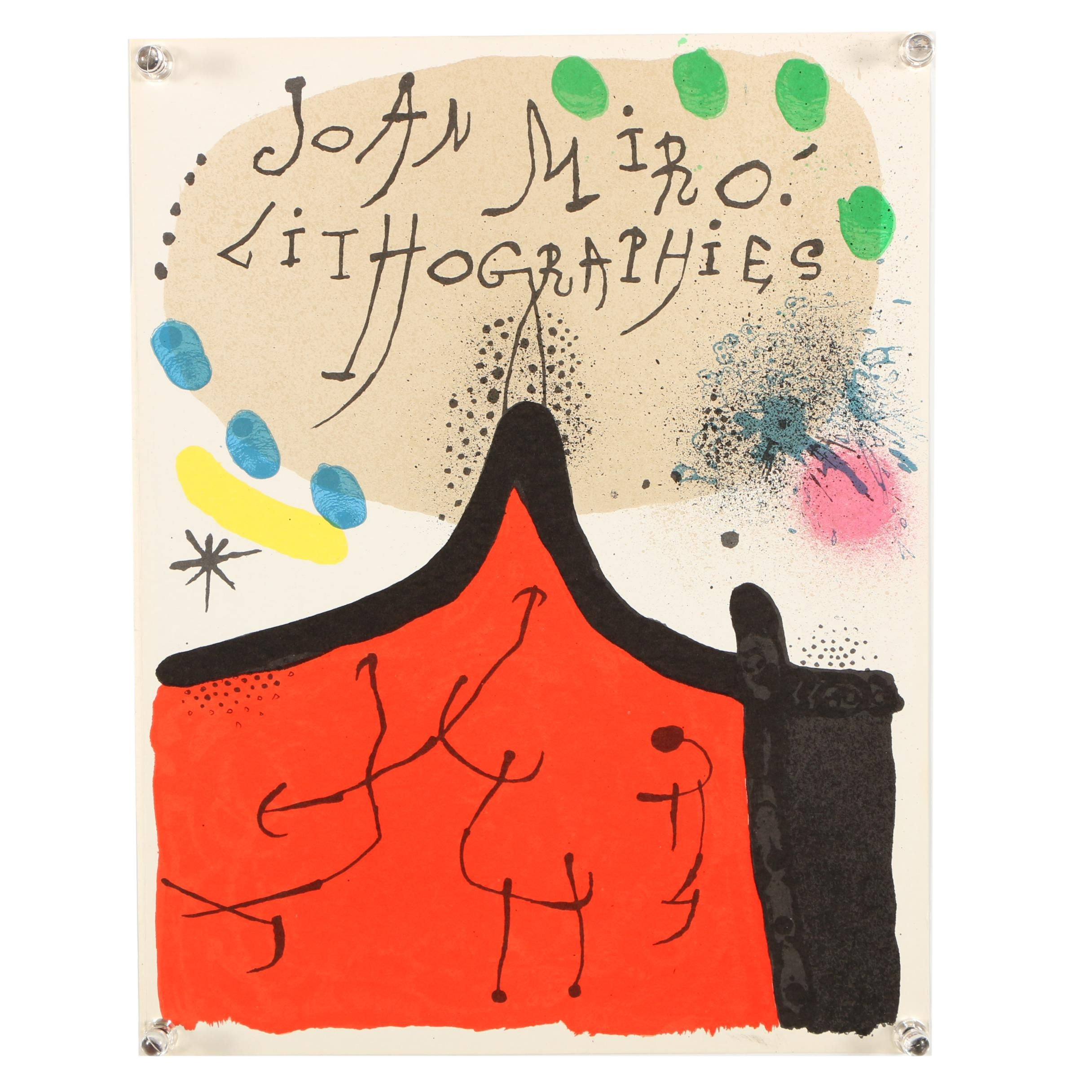 Color Lithograph of Print Catalog Cover Image Designed by Joan Miro