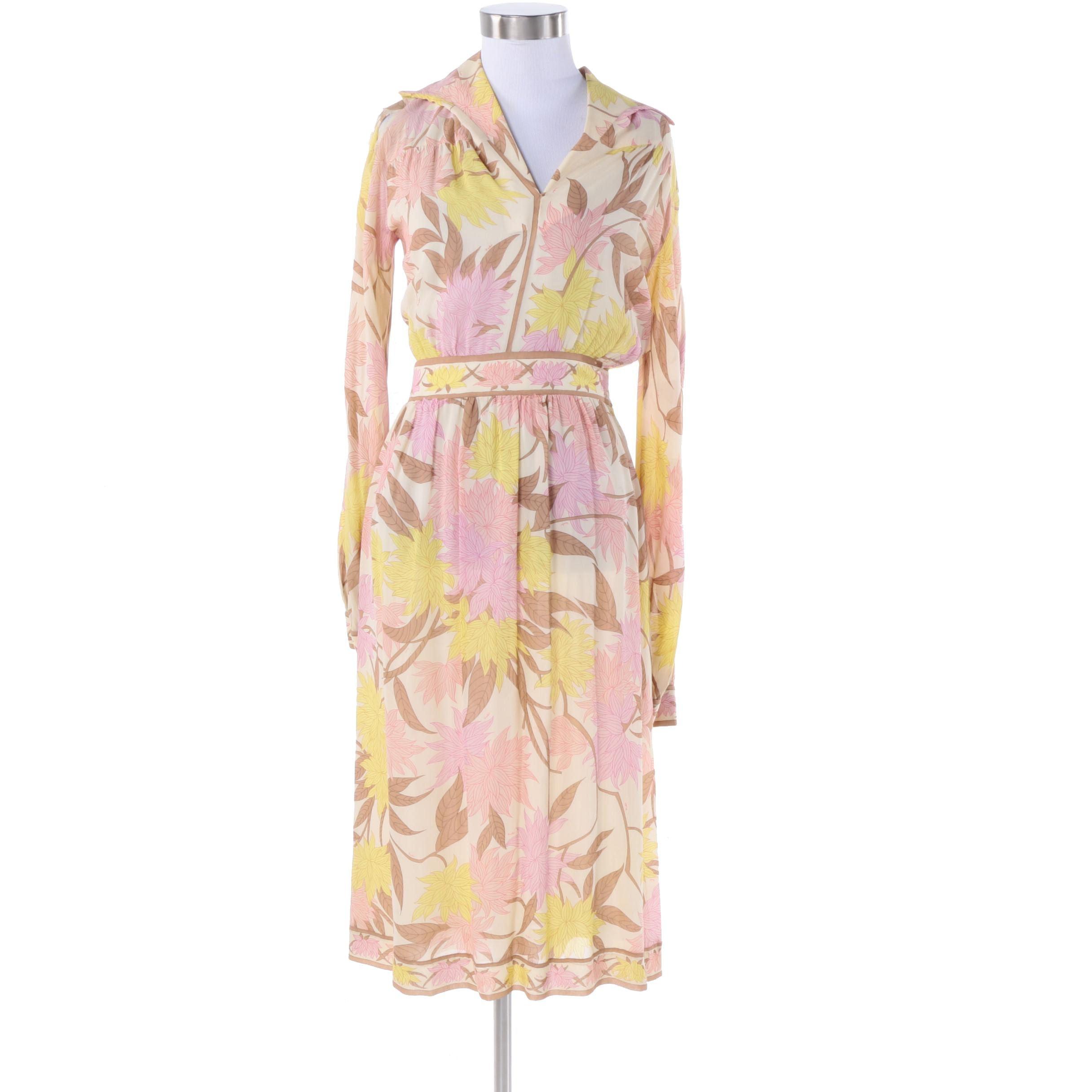 1970s Vintage Emilio Pucci Silk Dress