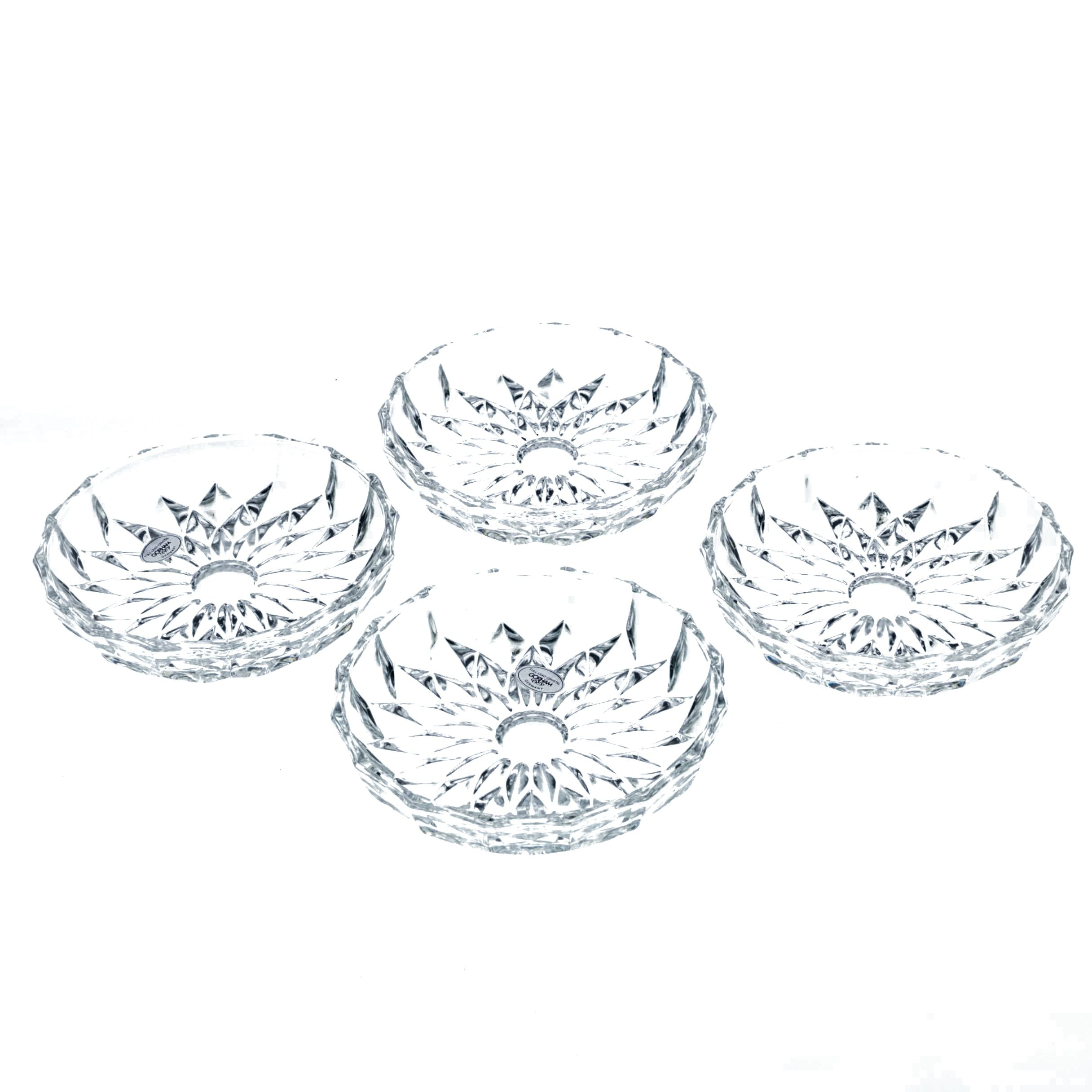 "Gorham ""Althea"" Crystal Coasters"