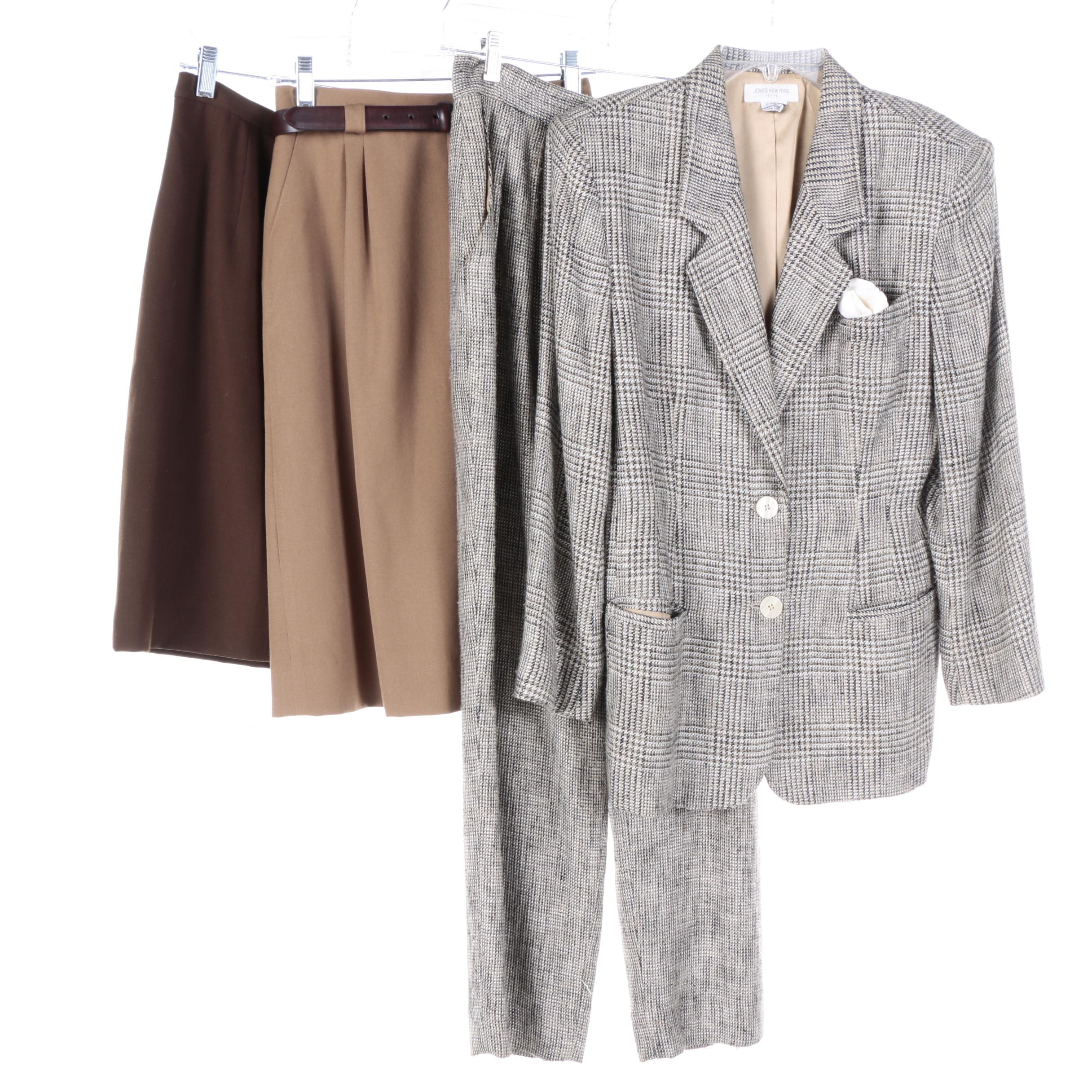 Women's Jones New York Pantsuit, Skirts and Belt