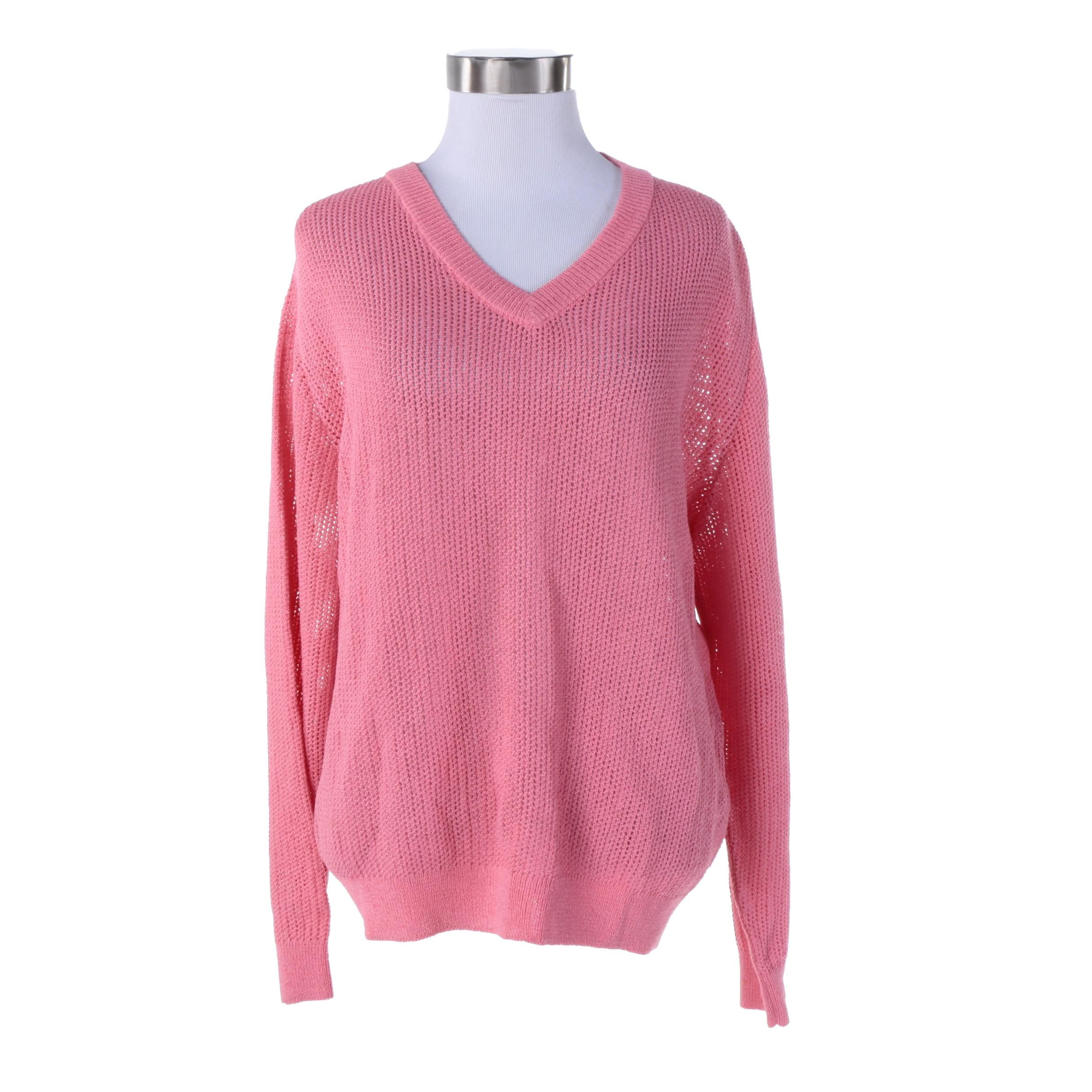 St. John Pink Knit Sweater