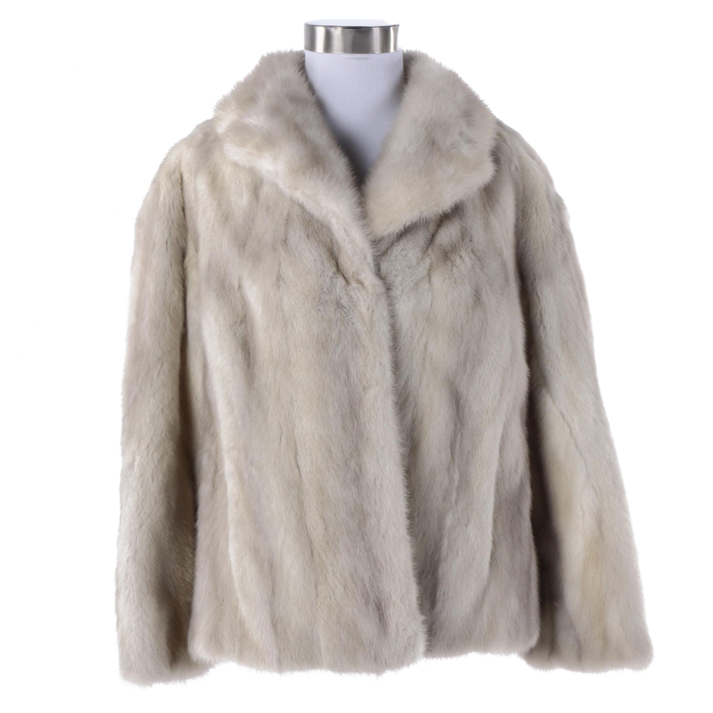 Women's The Denver Grey Mink Fur Coat