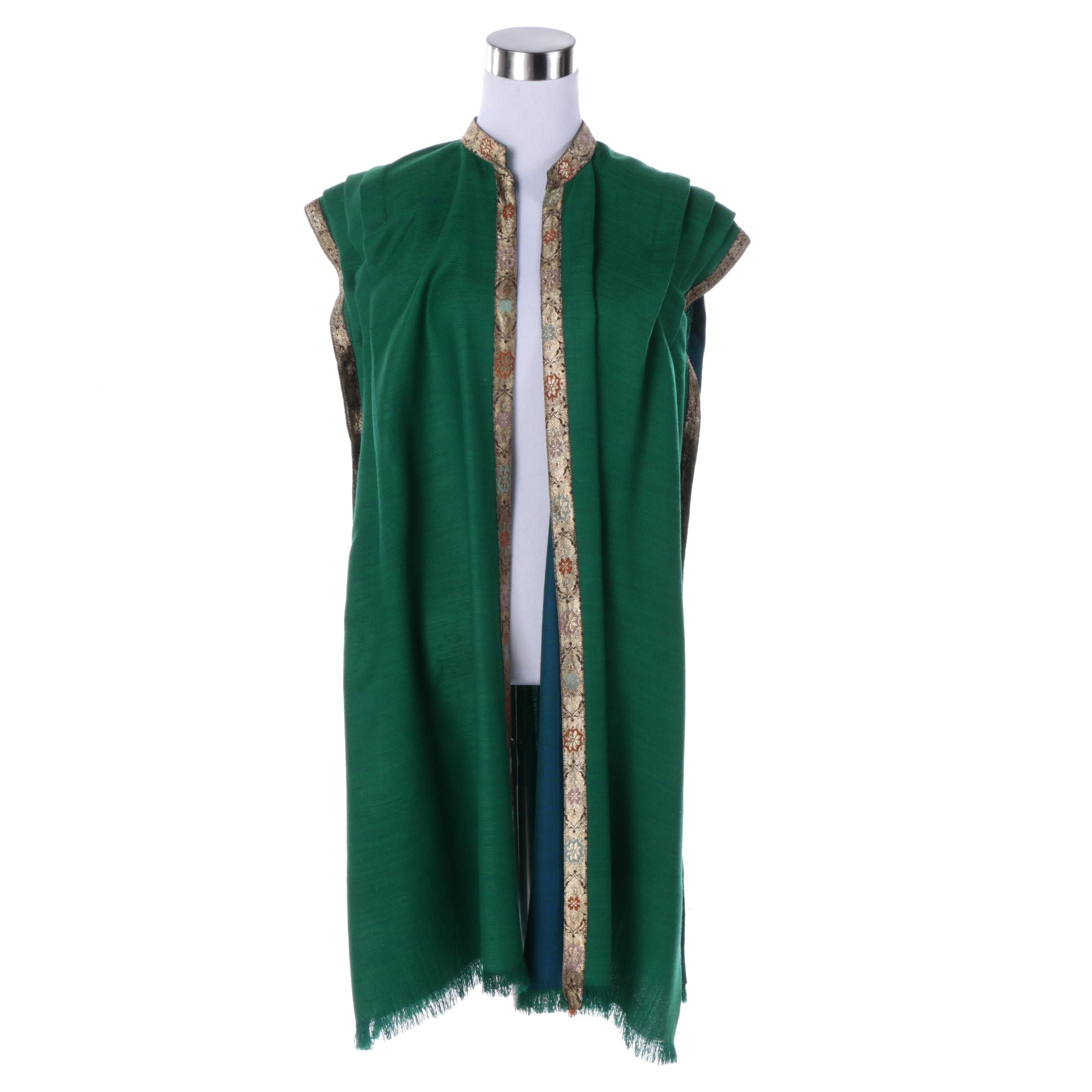 Women's Tunic Vest with Ribbon Trim
