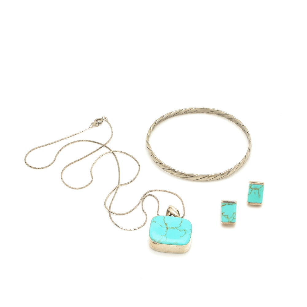 Sterling Silver Dyed Howlite Jewelry Selection