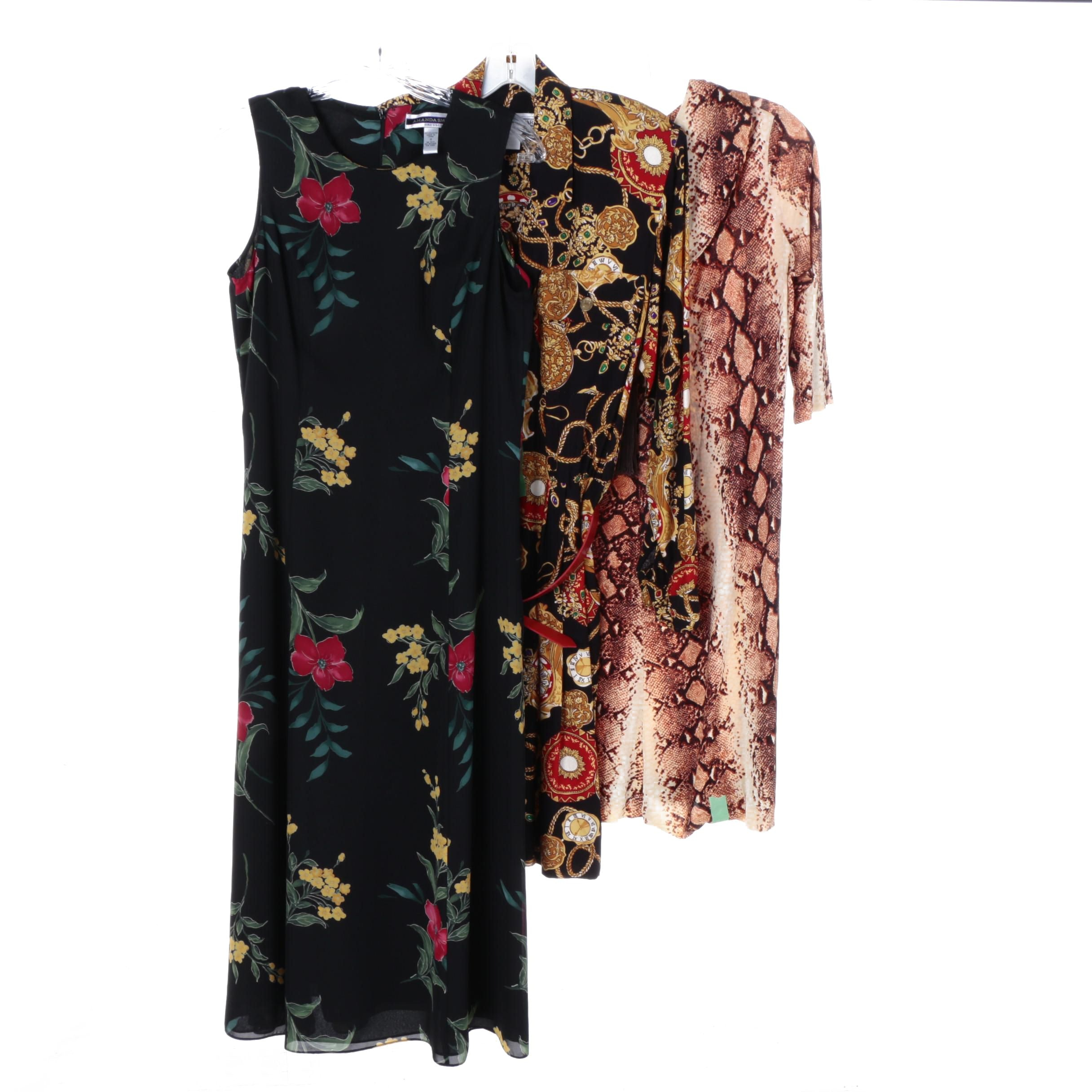 Woman's Patterned Dresses, Including Jessica Howard