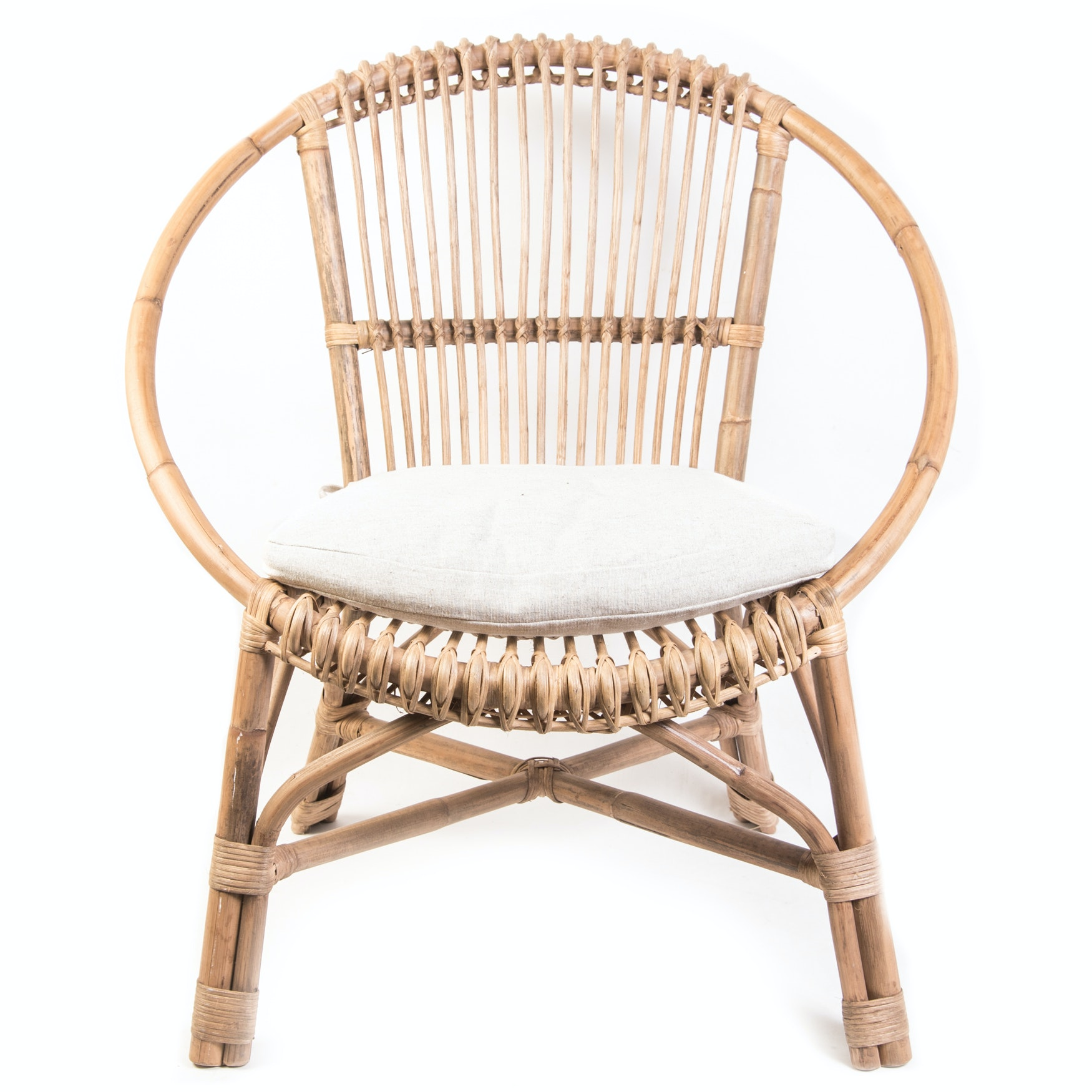 Delicieux Contemporary Round Rattan Chair ...