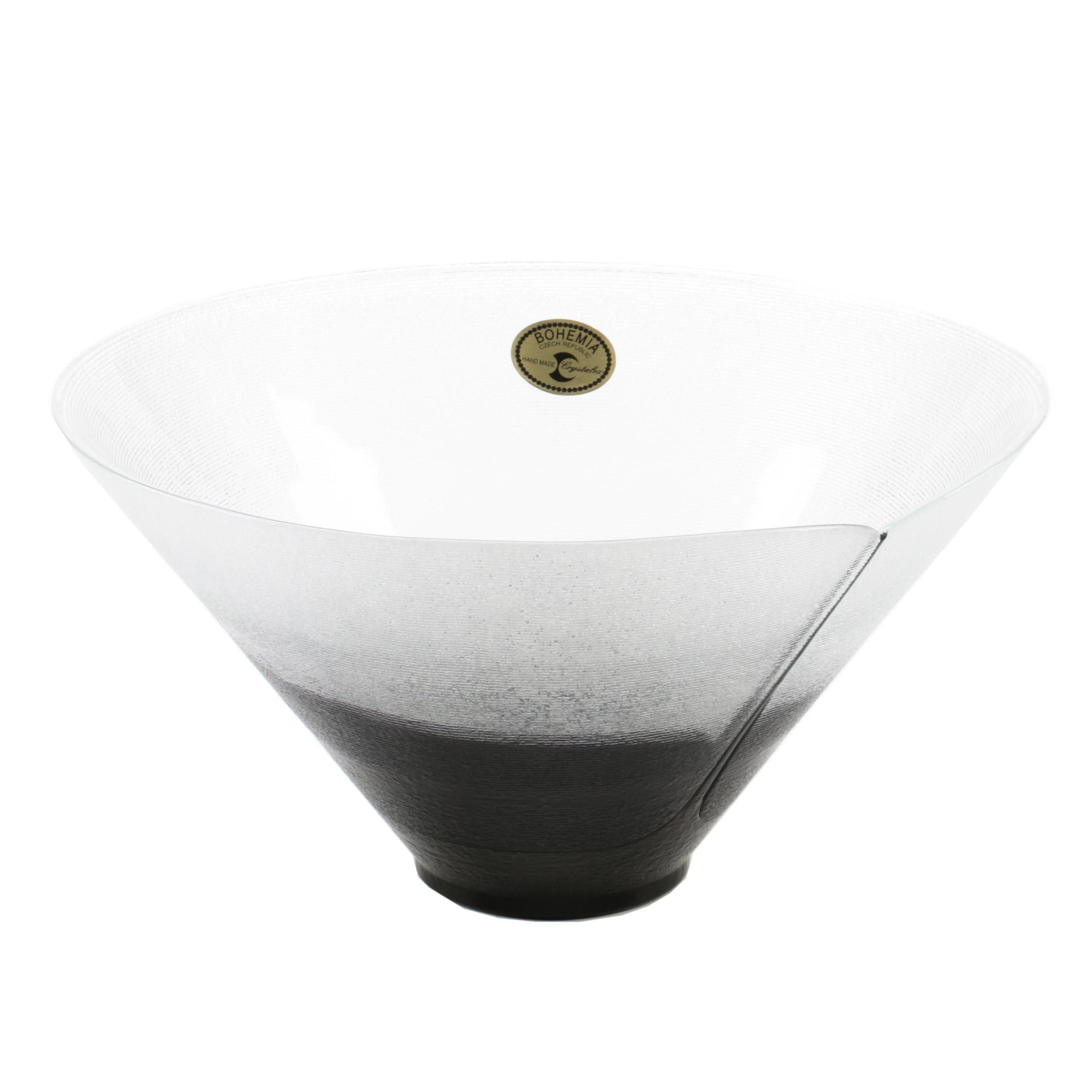 Crystalex Bohemian Art Glass Bowl