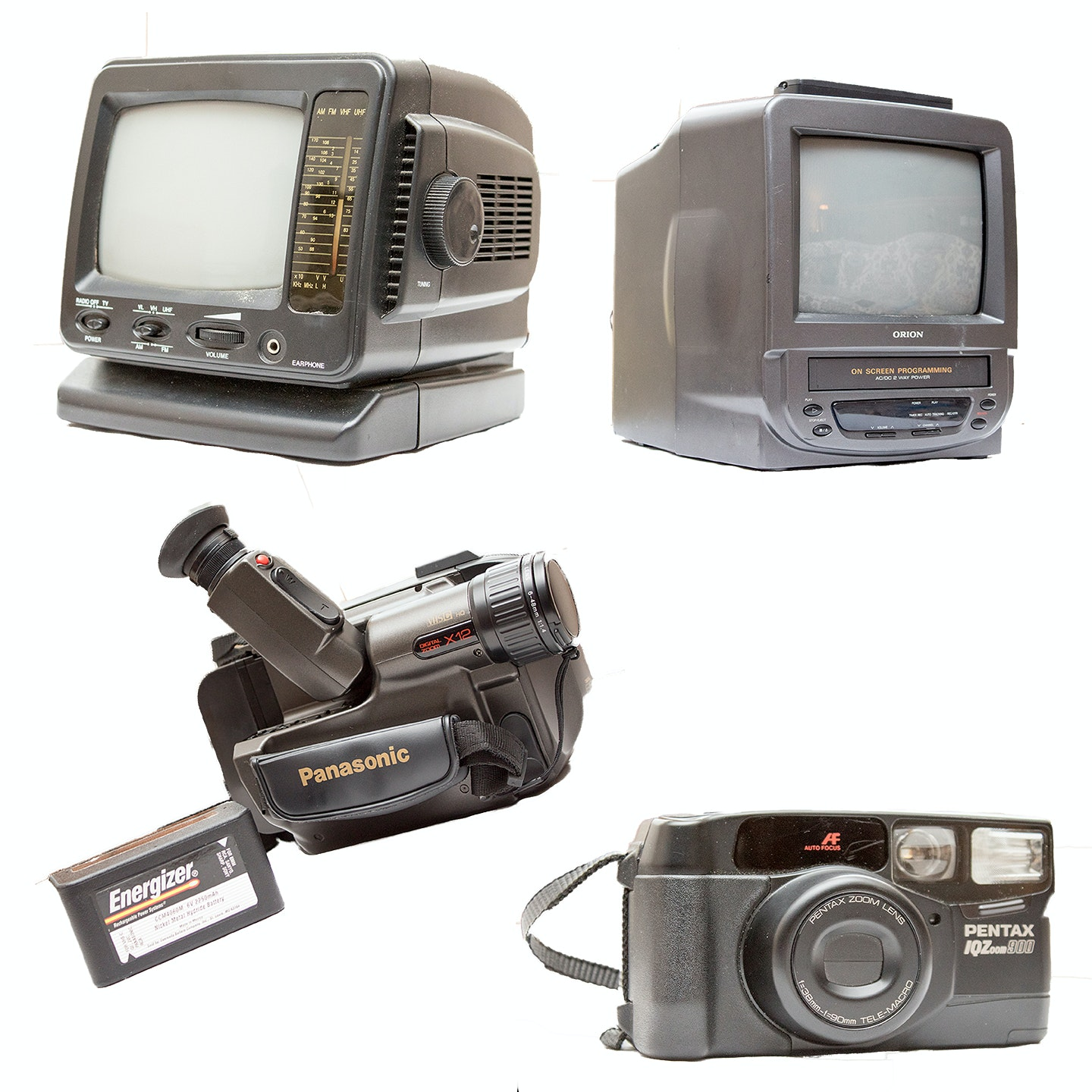 Mini Televisions, Pentax Vintage Camera and Panasonic Video Camera