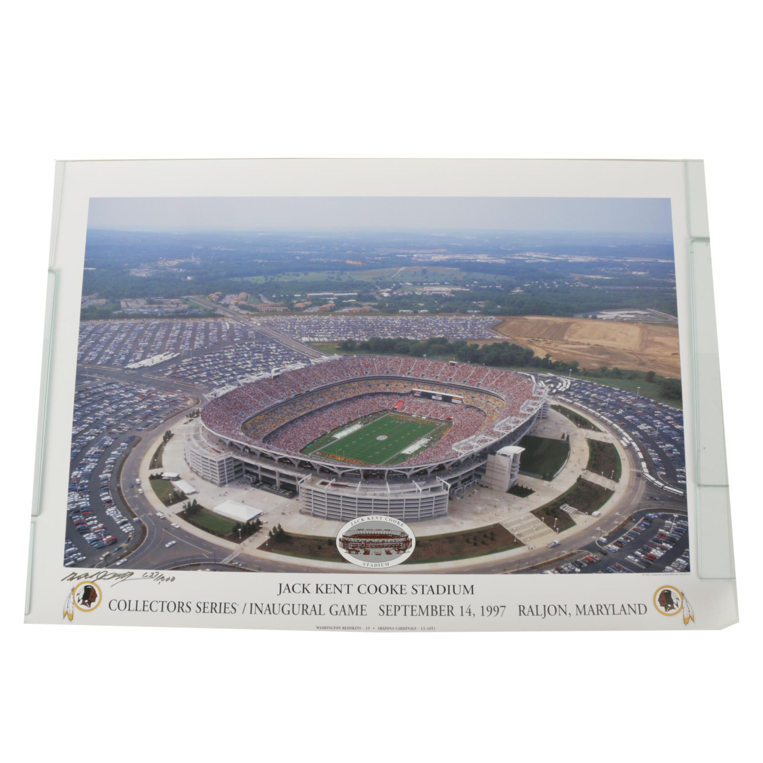 Michael Gustafson Limited Edition Offset Lithograph of Jack Kent Cooke Stadium