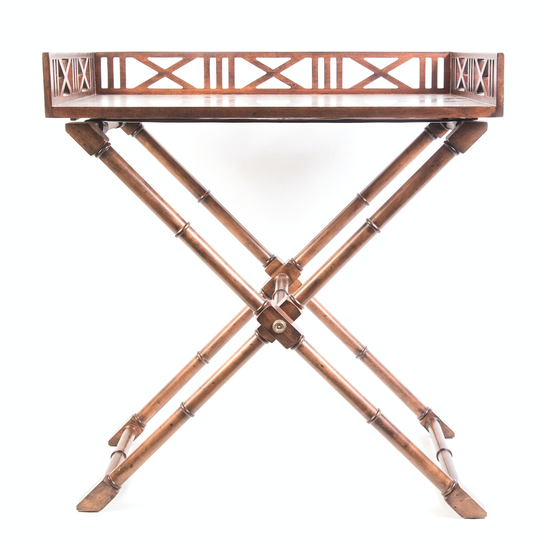 """Ethan Allen """"Caramel West Indies"""" Tray Table"""