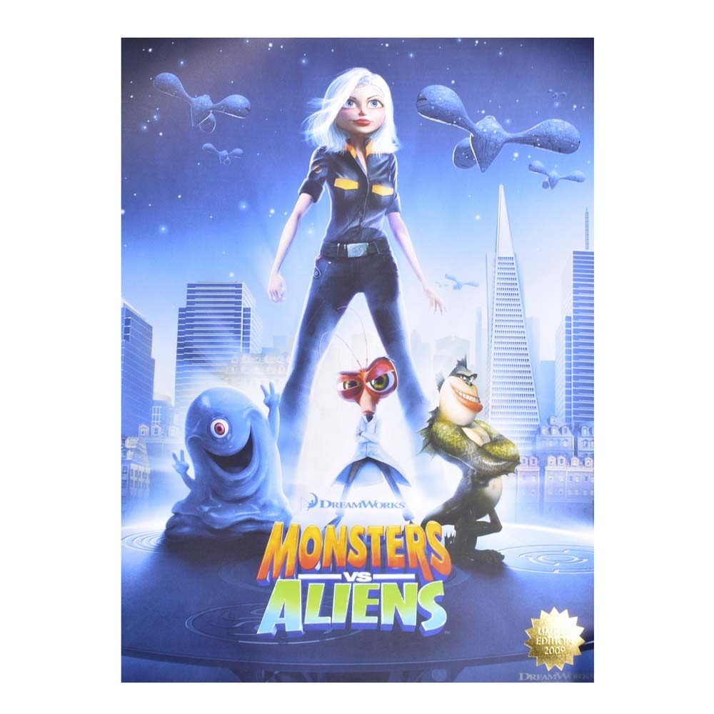 Dreamwork's Monsters vs. Aliens Limited Edition Movie Poster