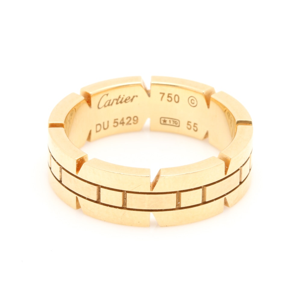 Cartier Tank Francoise 18K Yellow Gold Ring