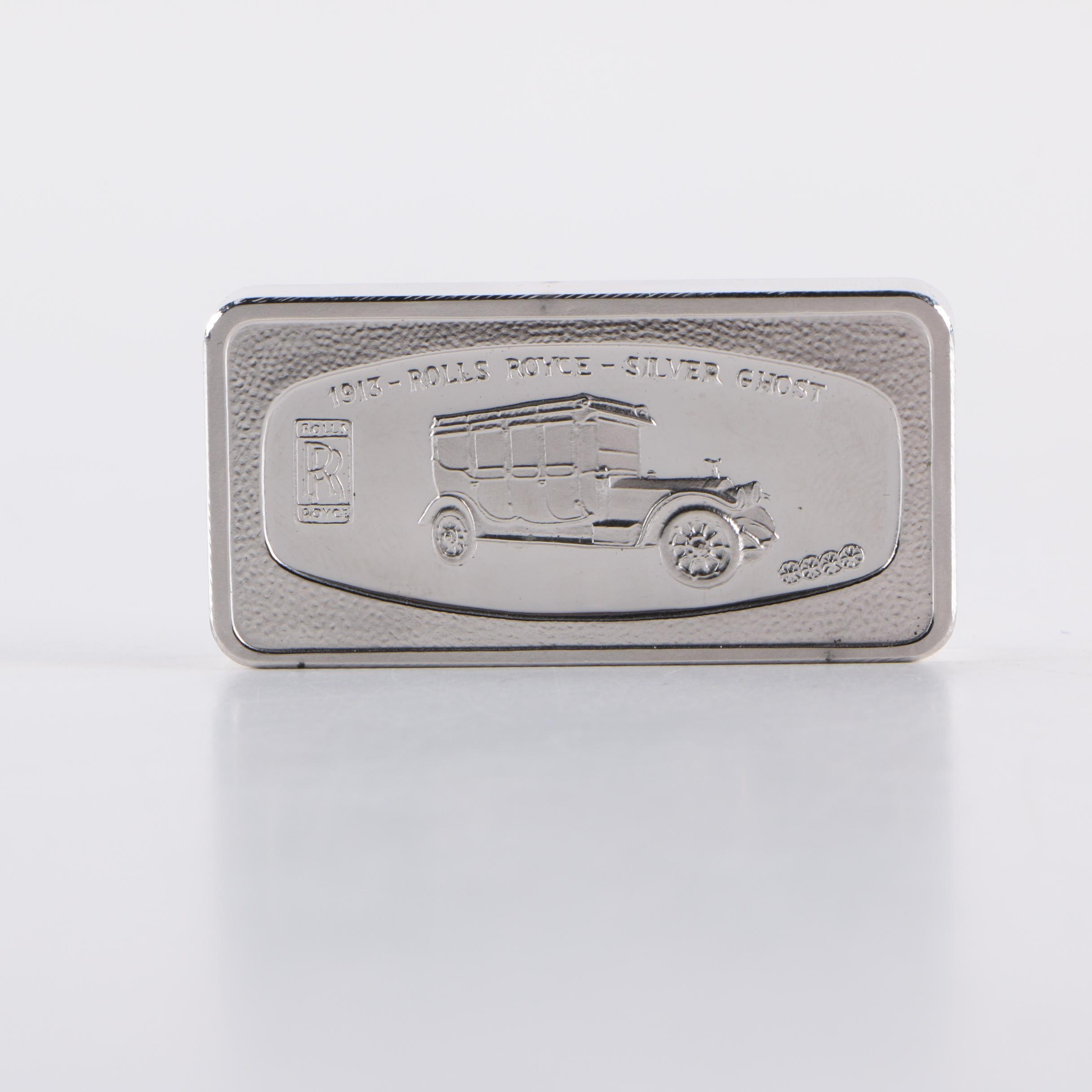 """""""Rolls Royce- Silver Ghost"""" Sterling Silver Ingot"""