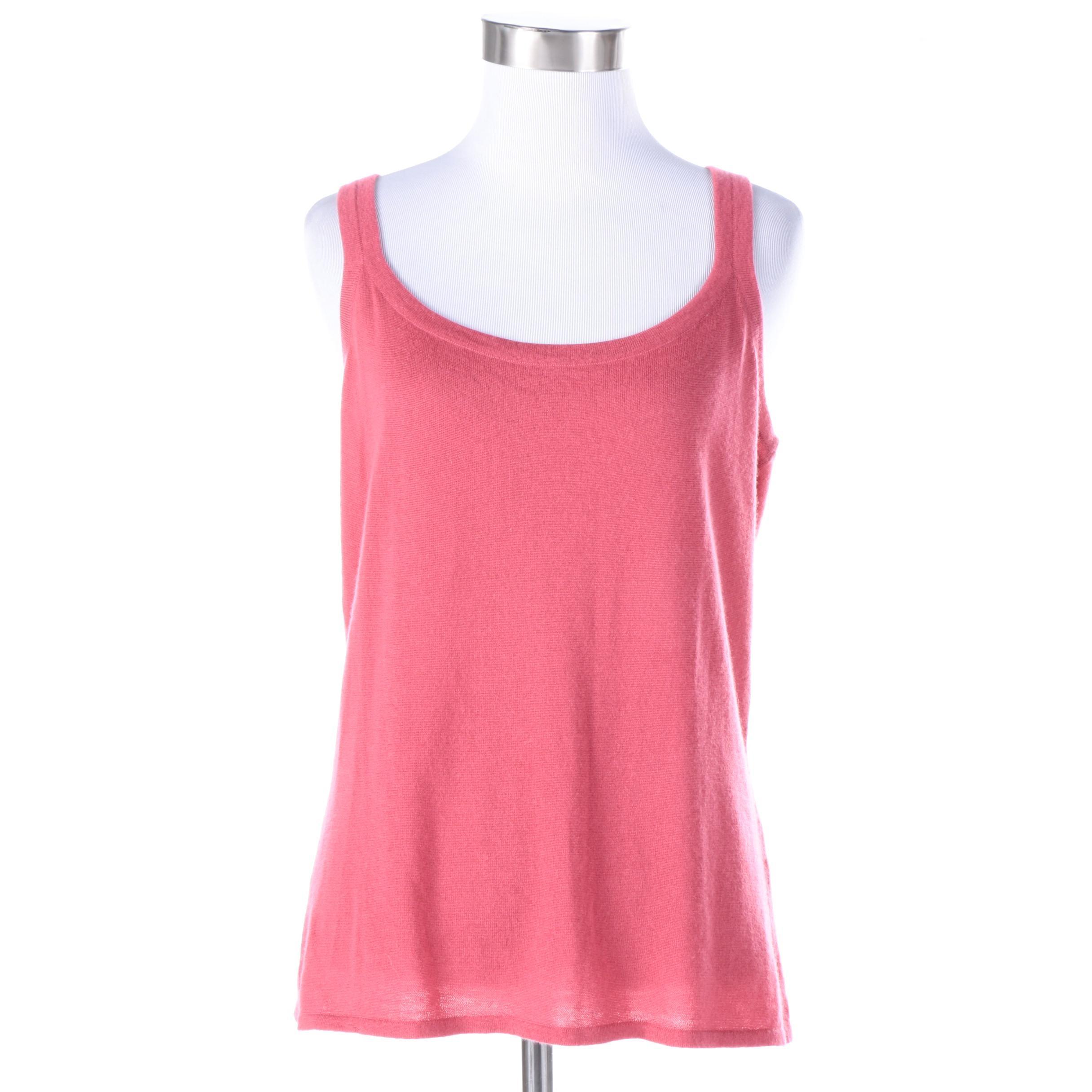 Women's Loro Piana Pink Cashmere Tank Top