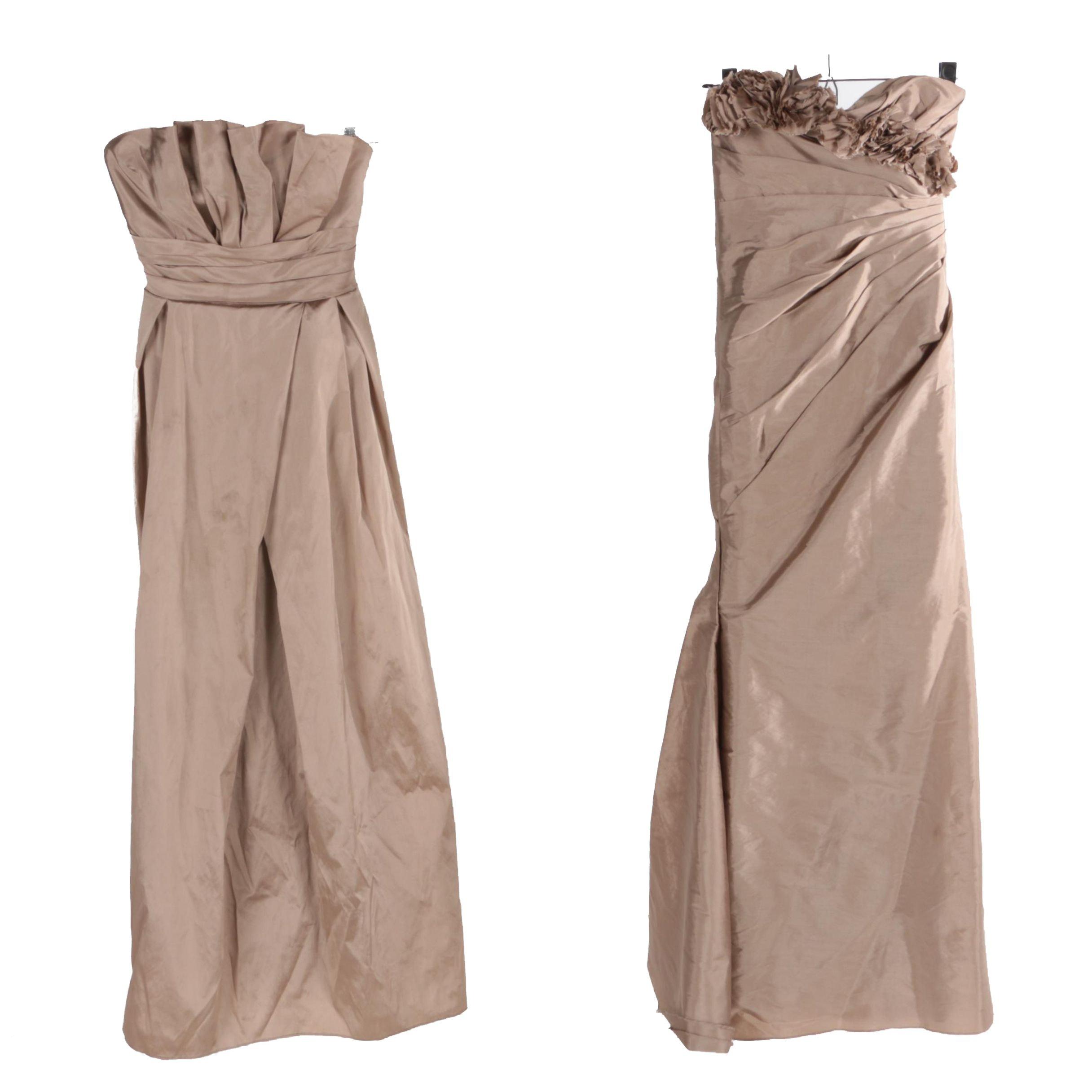 Monique Lhuillier Sleeveless Bridesmaid Dresses