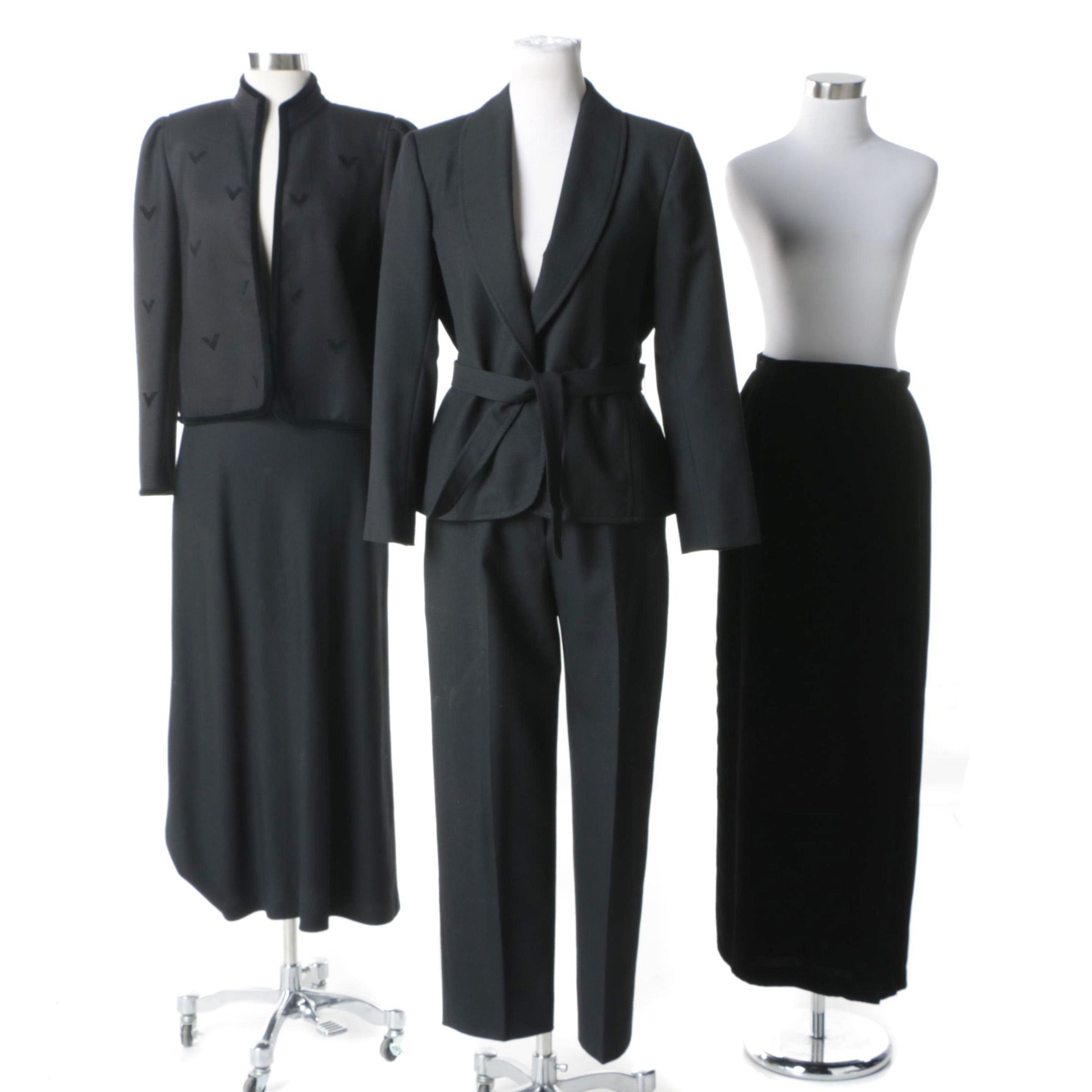 Women's Pantsuit and Separates Including a Louis Feraud Wool Blazer