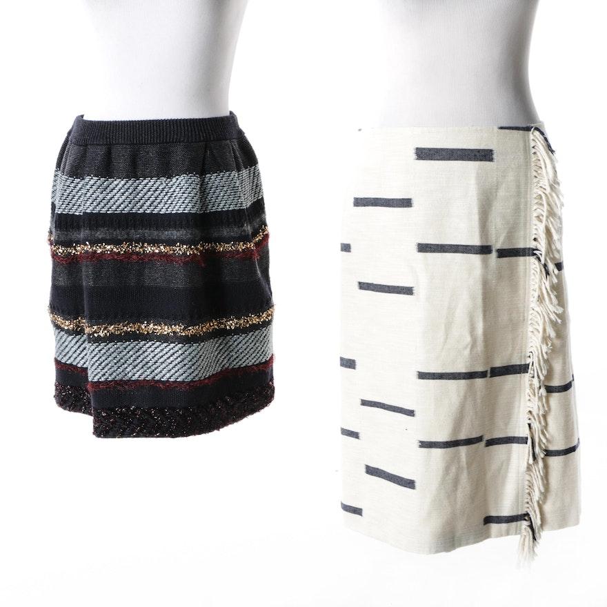 4f42794c30bd6 Women s Tory Burch Cotton and Wool Blend Striped Skirts   EBTH