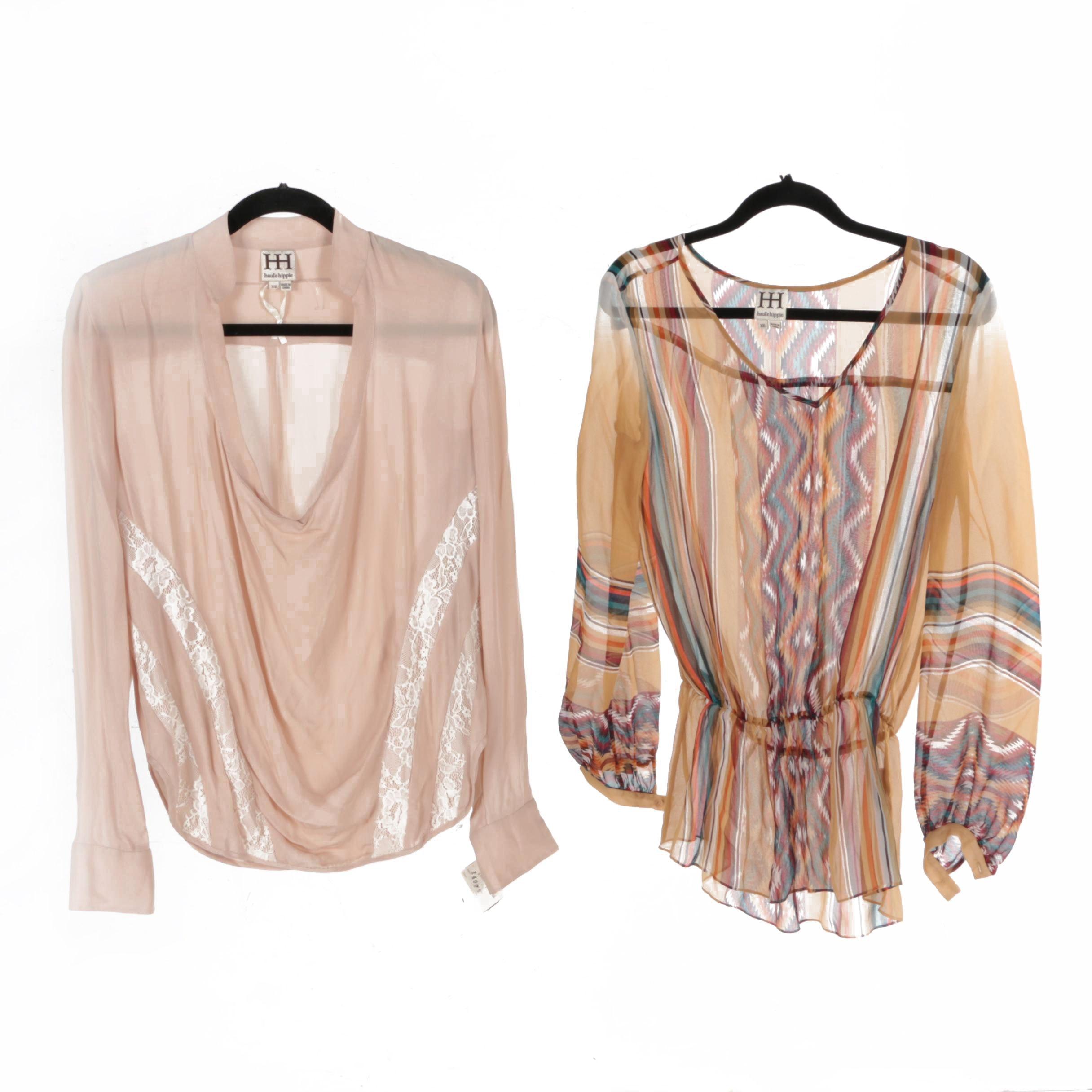 Women's Haute Hippie Sheer Silk Blouses