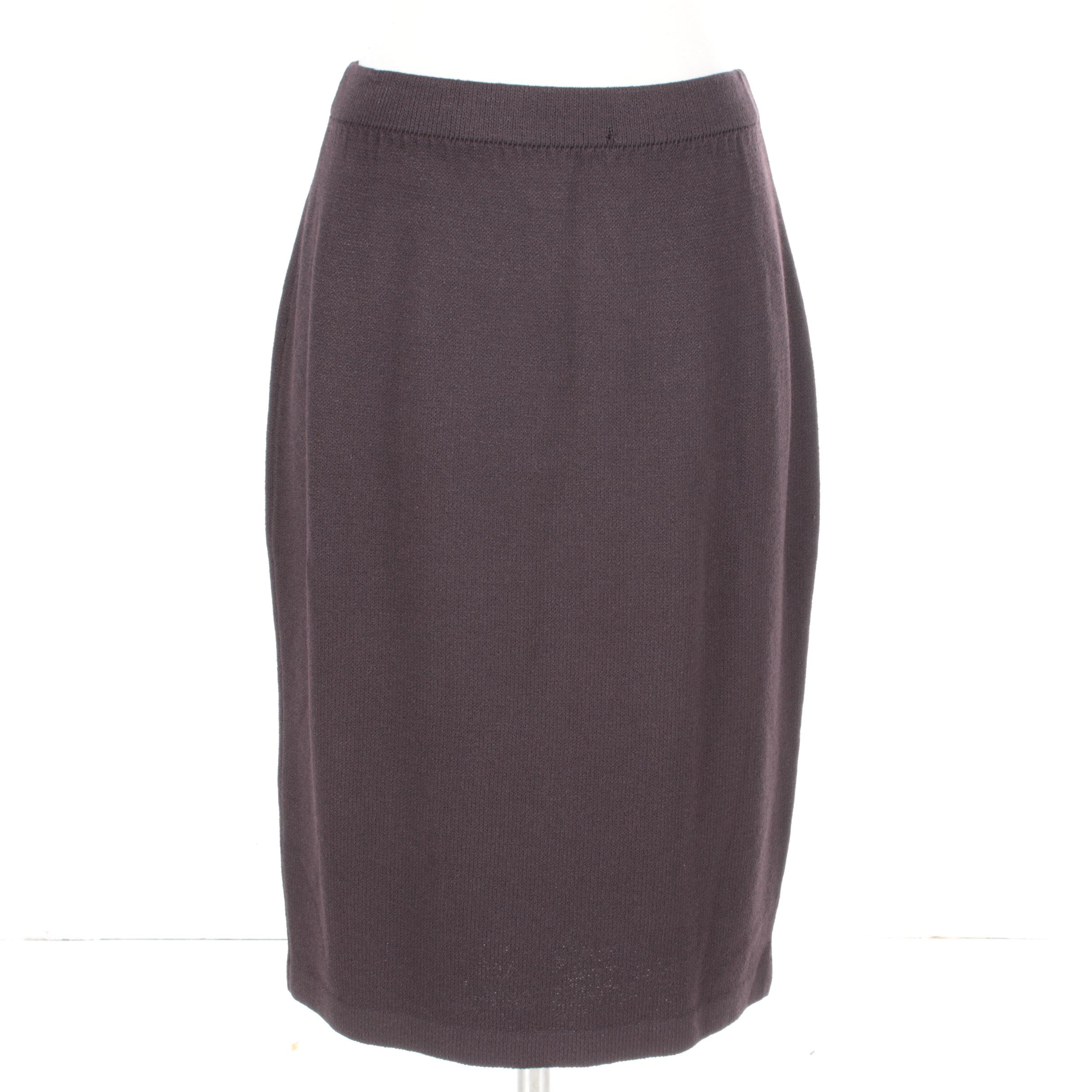 St. John Collection Brown Knit Skirt