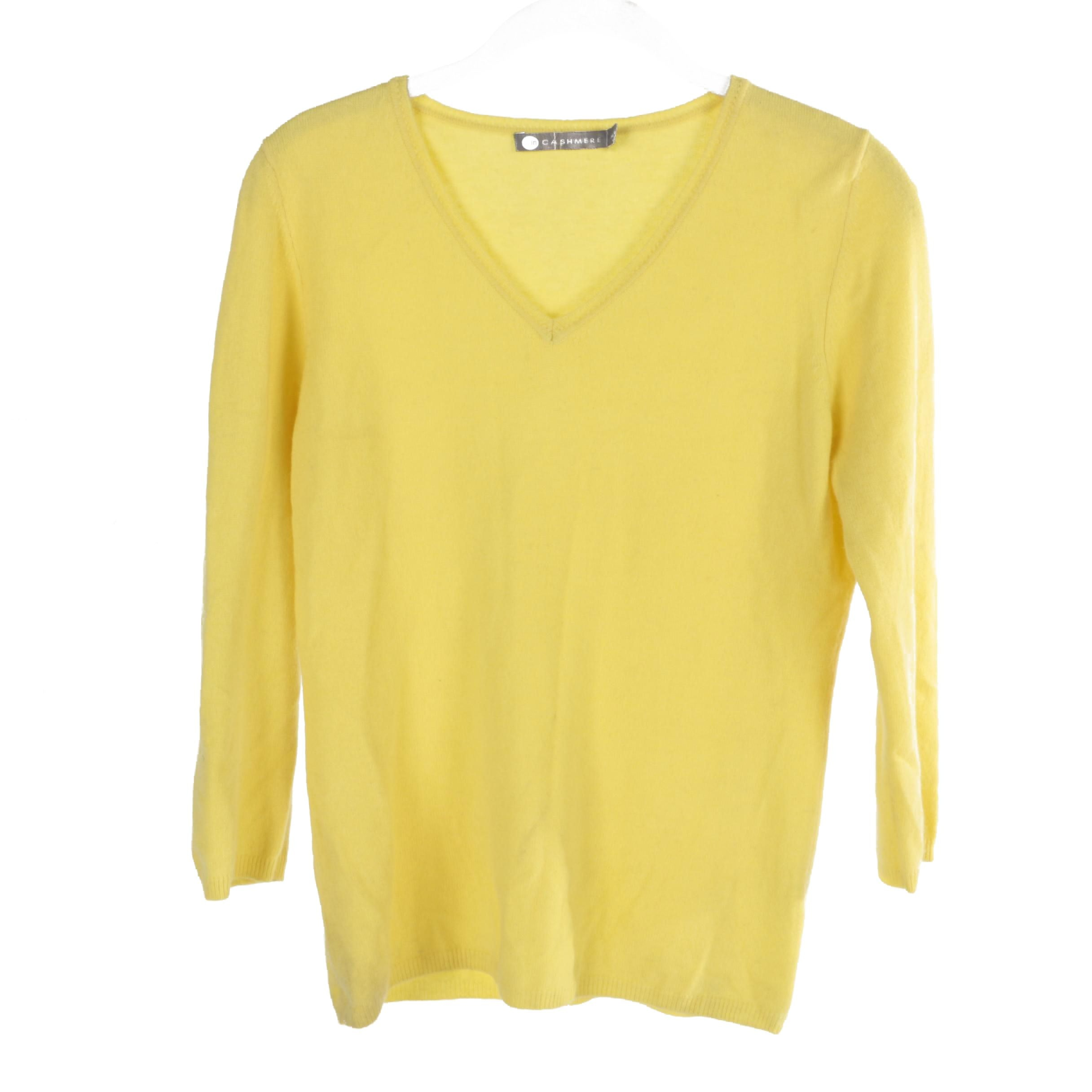 In Cashmere Yellow Cashmere Sweater