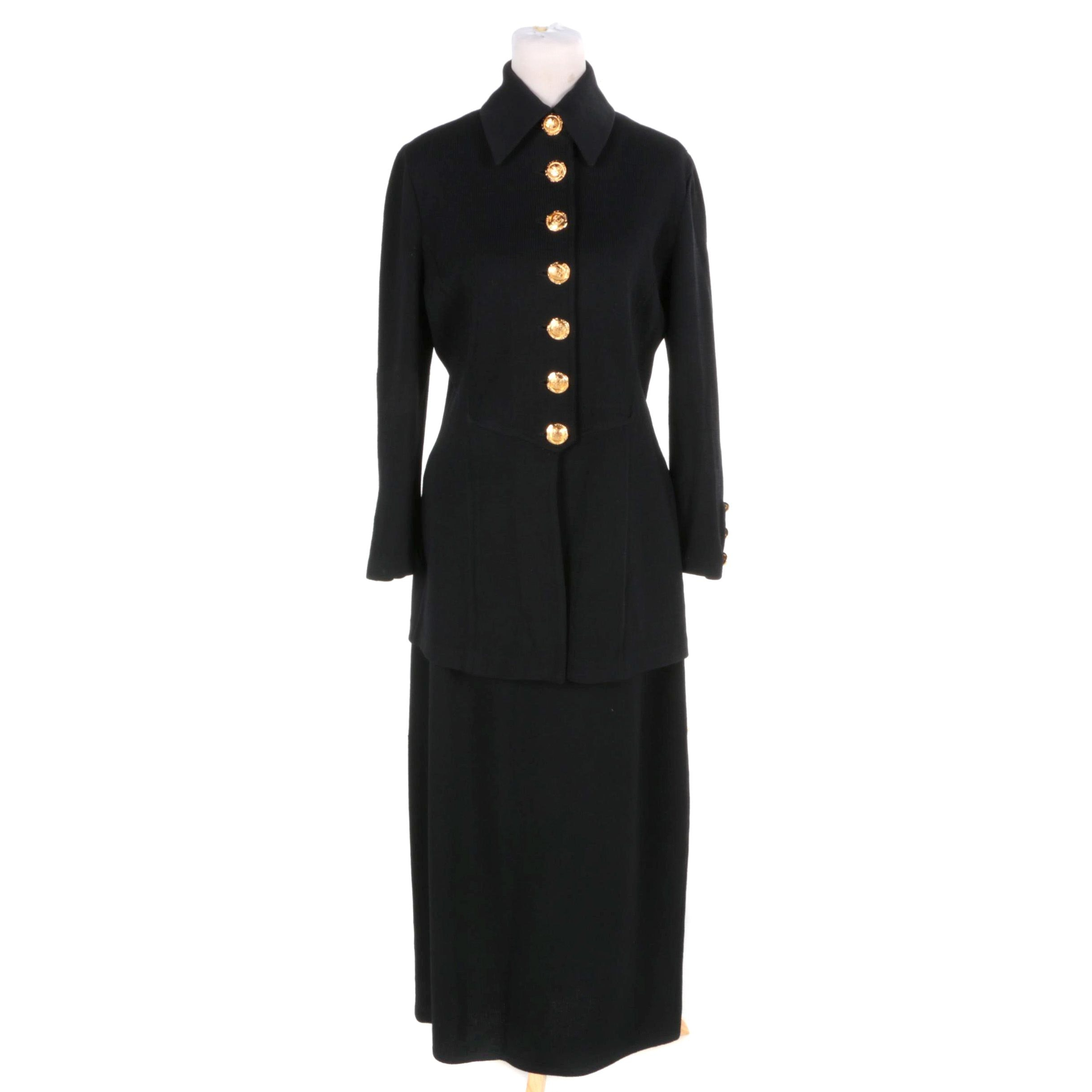 St. John Brand Knit Jacket and Skirt