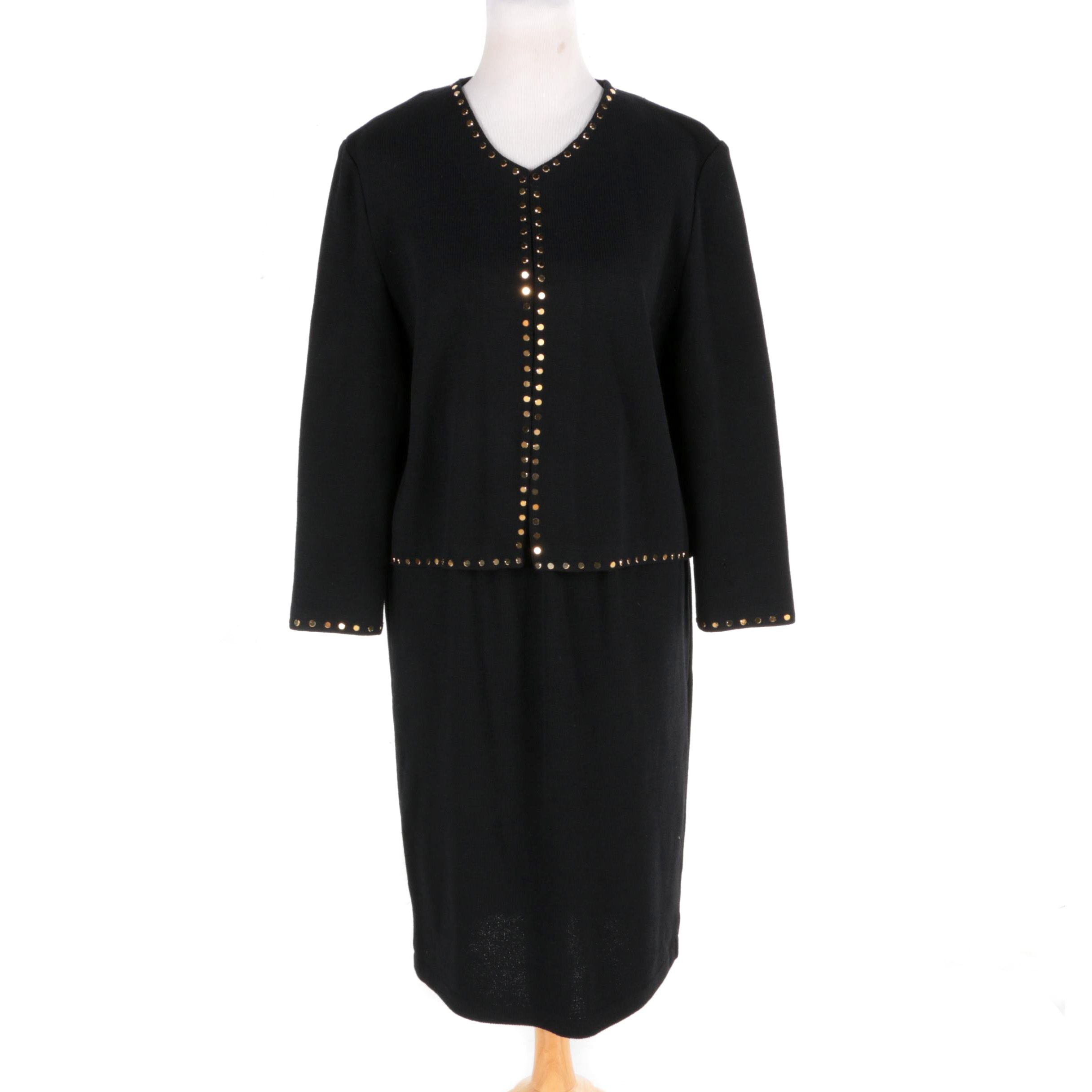 St. John Evening by Marie Gray Cardigan and St. John Basic Skirt