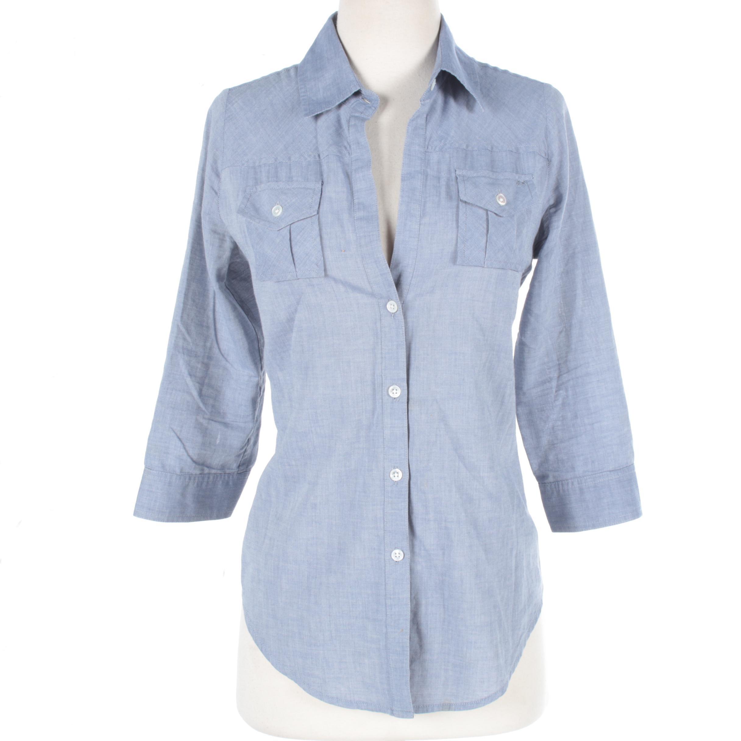 Women's Elizabeth & James Chambray Button-Down Shirt