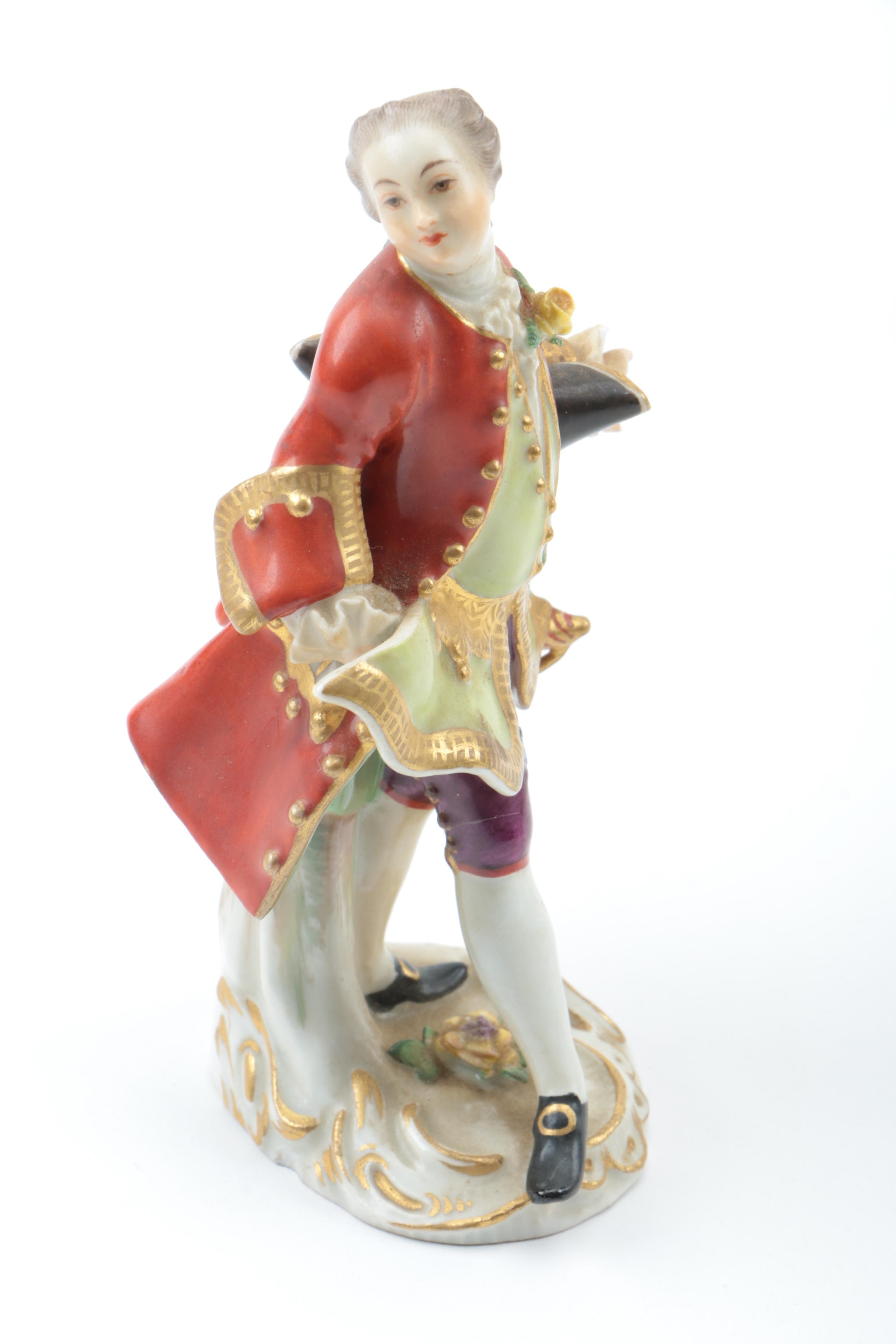 Antique Meissen Porcelain Figure of a Powdered Gentleman