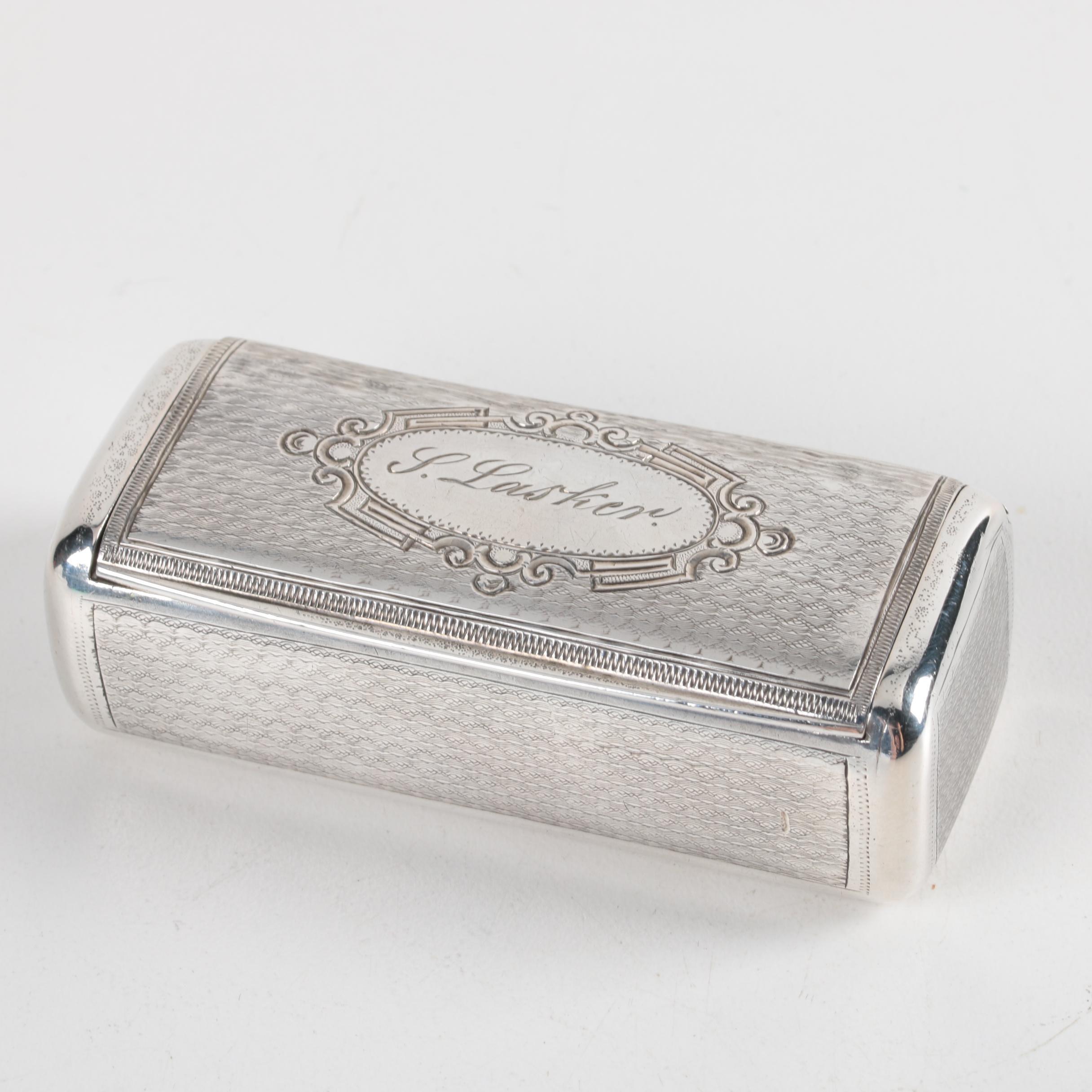 1864 Vienna Austria 813 Silver Trinket Box