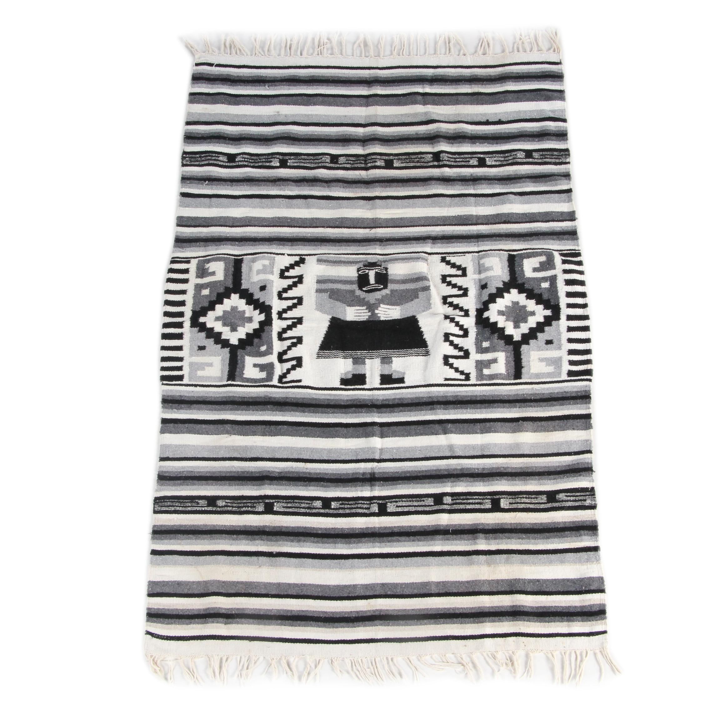 Handwoven Zapotec-Style Pictorial Wool Area Rug