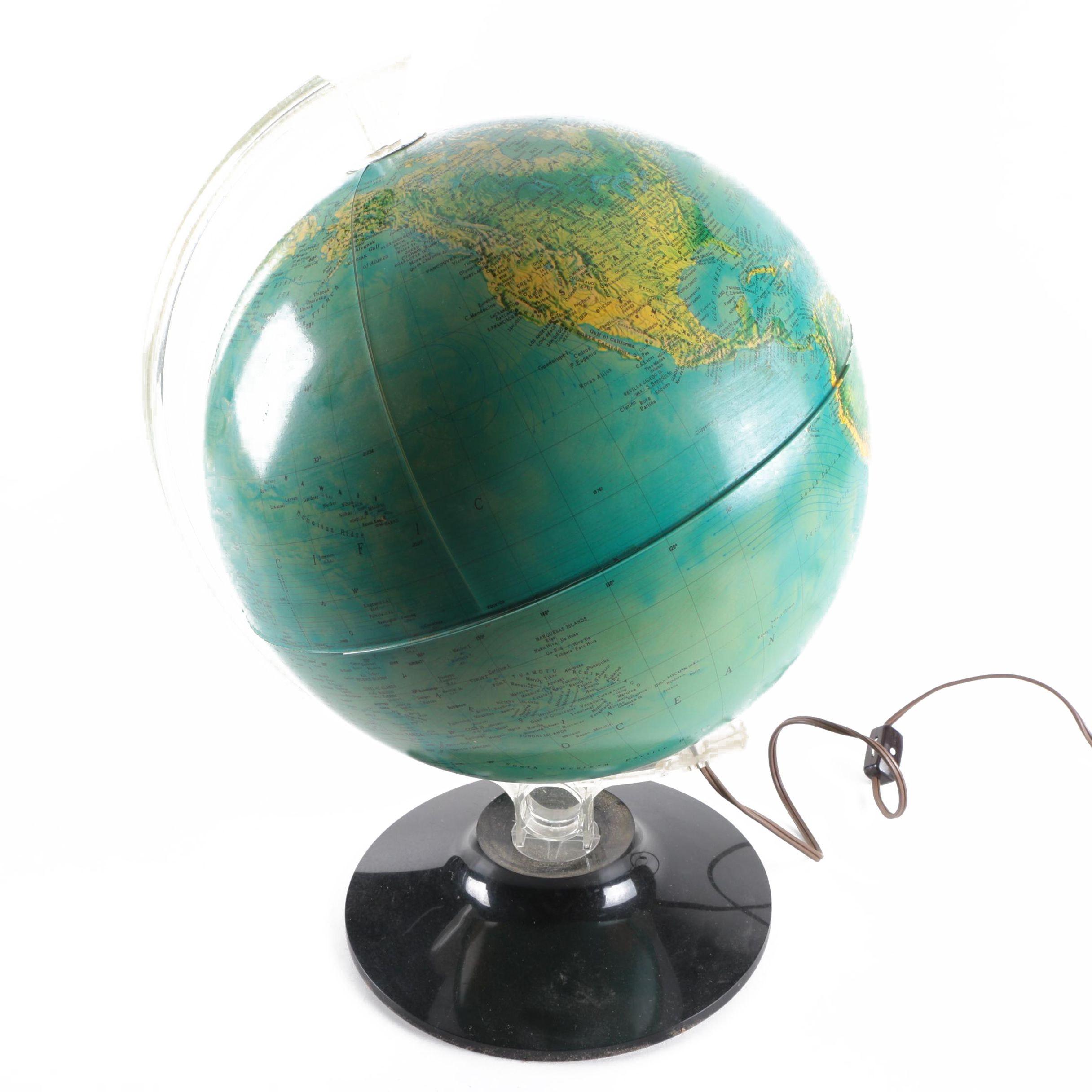 Rand McNally Physical Political Globe Lamp