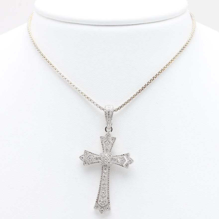 w gold necklace kc designs ct chains t in diamond of cross white lovely fresh sideways pendant