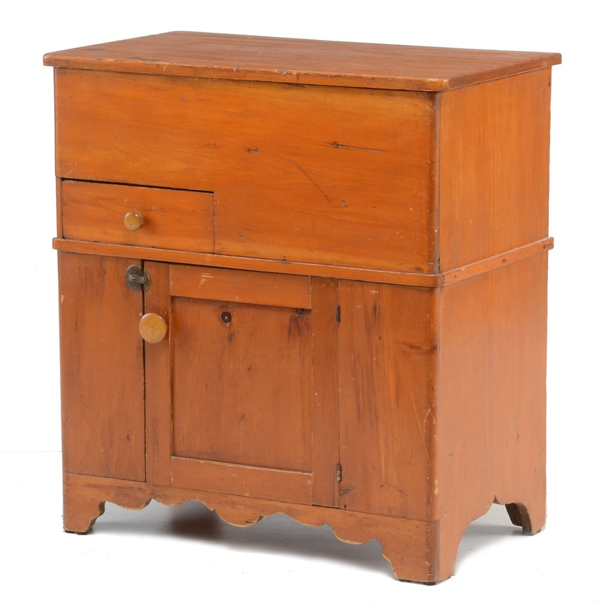 Antique Pine Lift Top Dry Sink