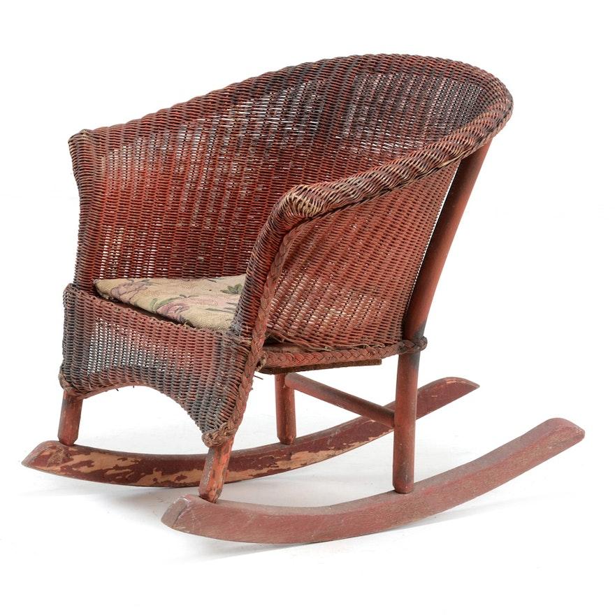 - Antique Child's Rocking Chair