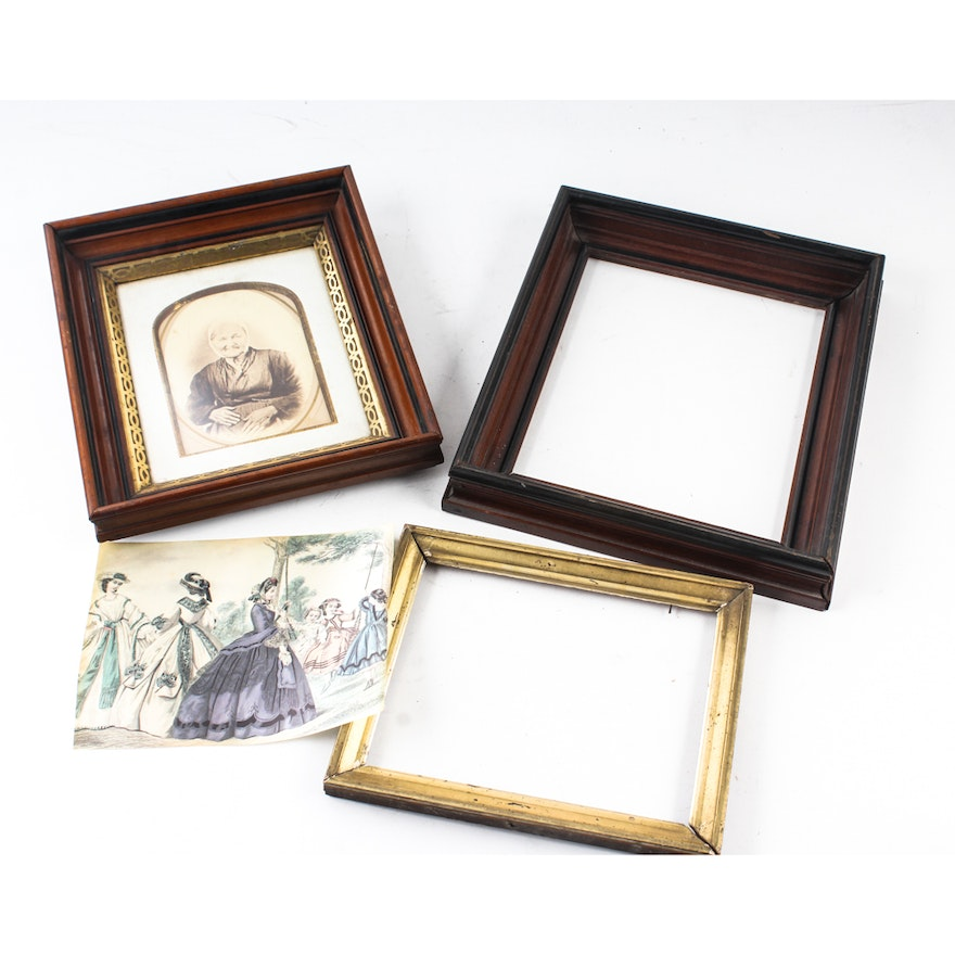 Antique Wooden Picture Frames : EBTH